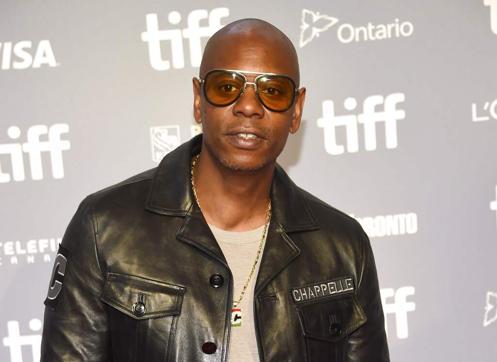 """Actor-comedian Dave Chappelle attends the press conference for """"A Star Is Born."""""""