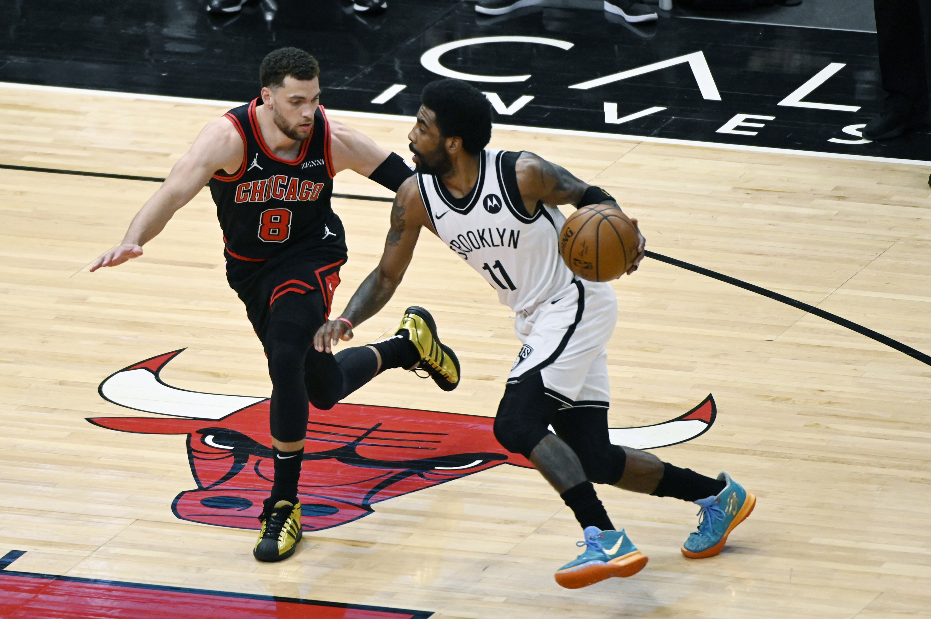 The Bulls' Zach LaVine is more concerned about his team than the drama surrounding Kyrie Irving and the Nets.