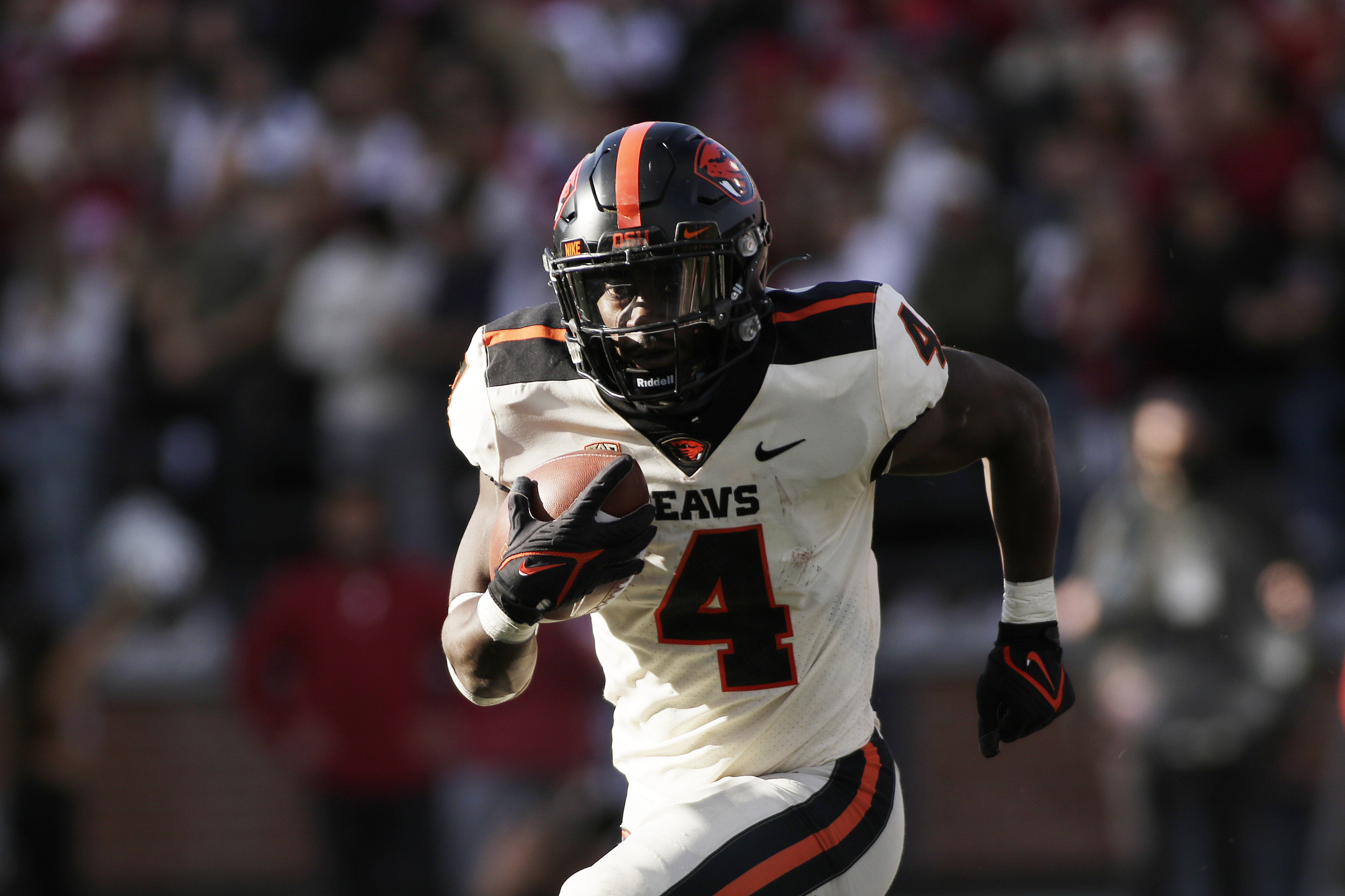 Oregon State running back B.J. Baylor carries the ball during against Washington State on Oct. 9, 2021, in Pullman, Wash.