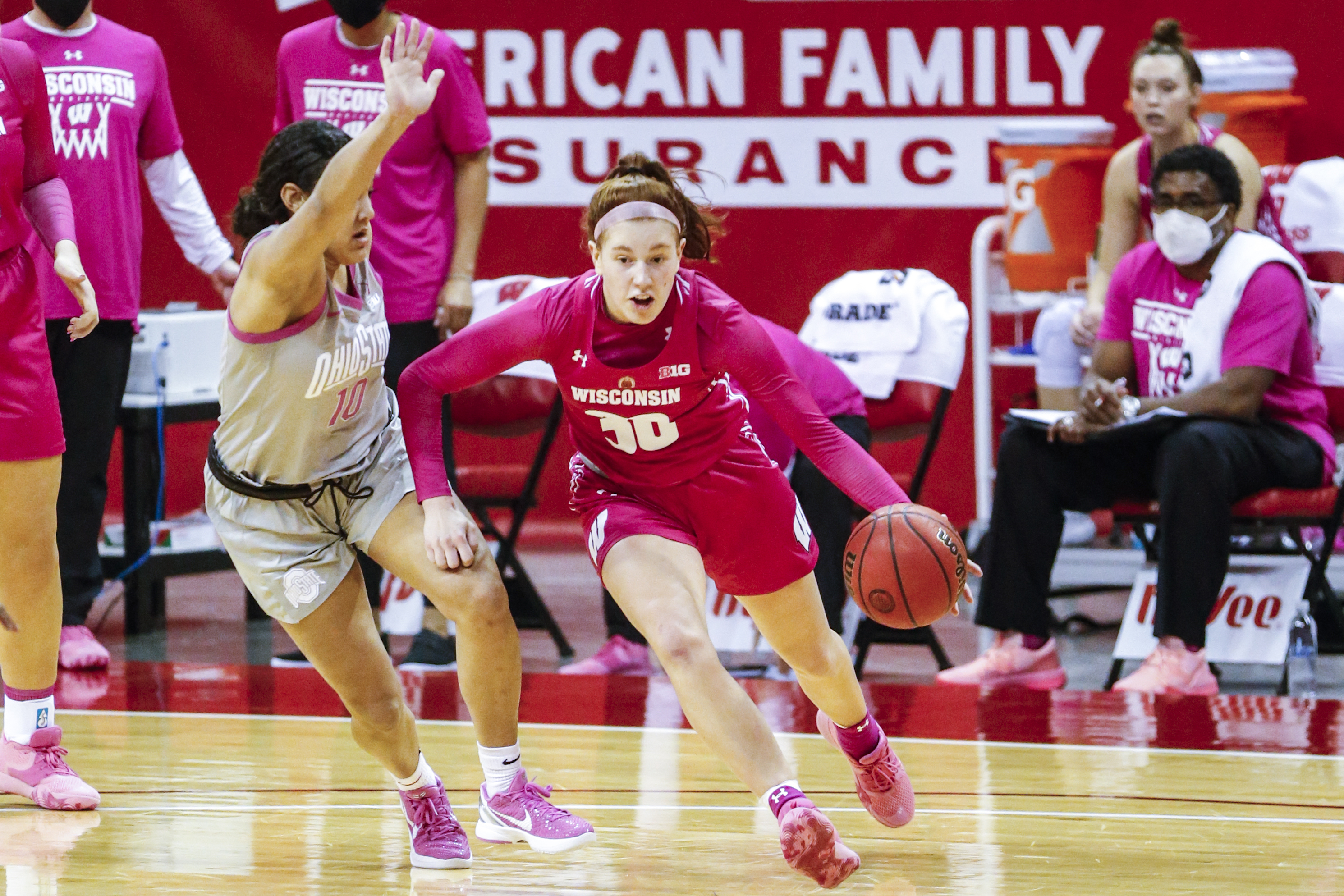 COLLEGE BASKETBALL: FEB 10 Women's Ohio State at Wisconsin