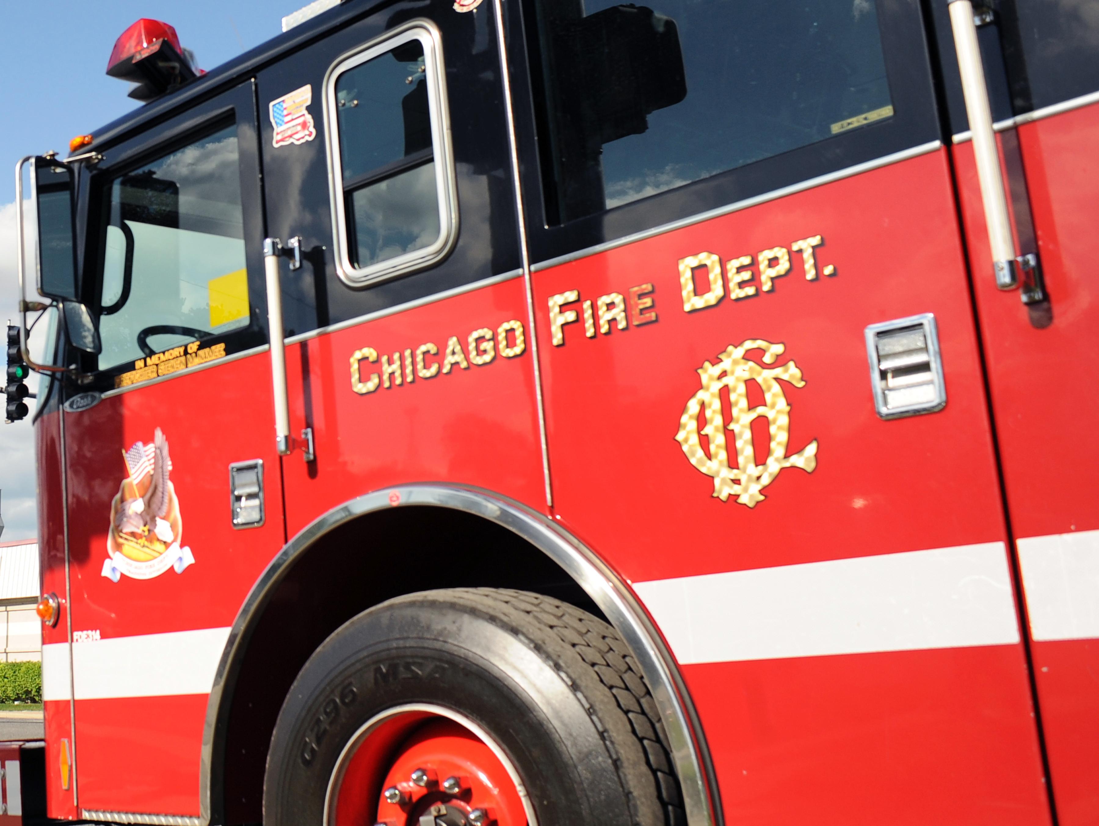 A Chicago Fire Department ladder truck.