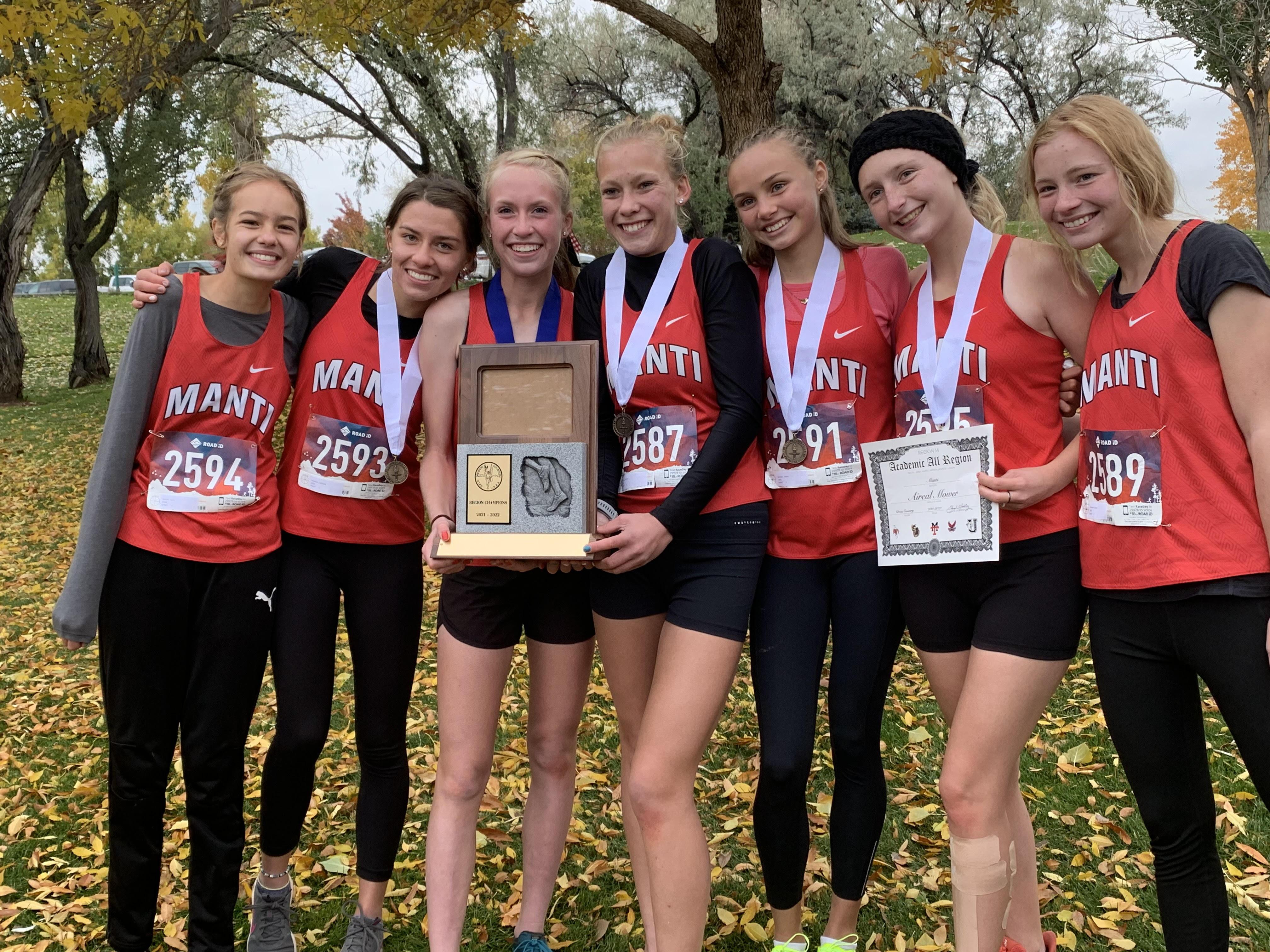 Manti's girls captured the Region 14 cross country championship