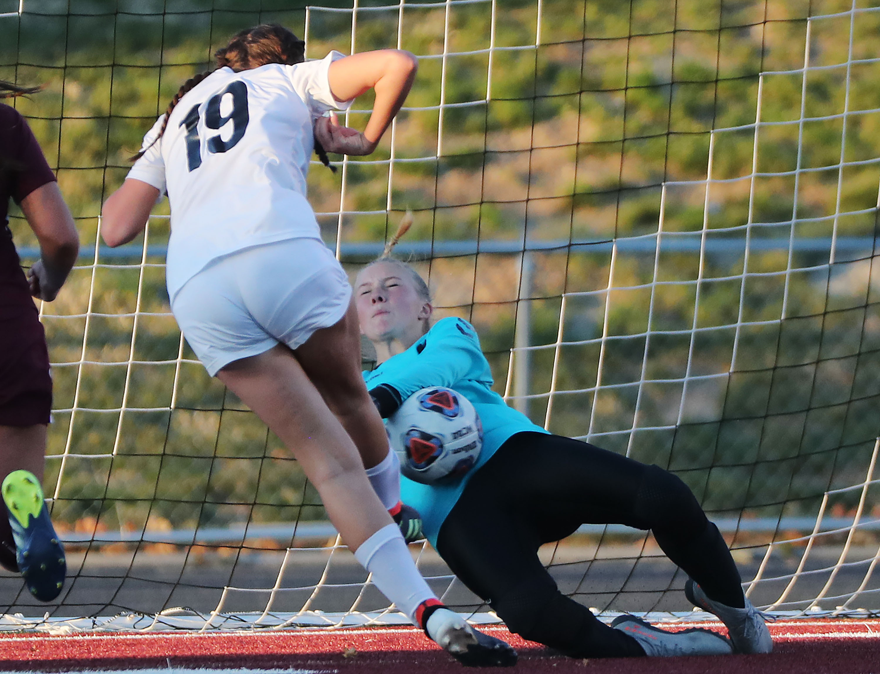 Morgan and RSL Academy play in the 3A girls soccer semifinals in Sandy on Thursday, Oct. 21, 2021. Morgan won 2-1.