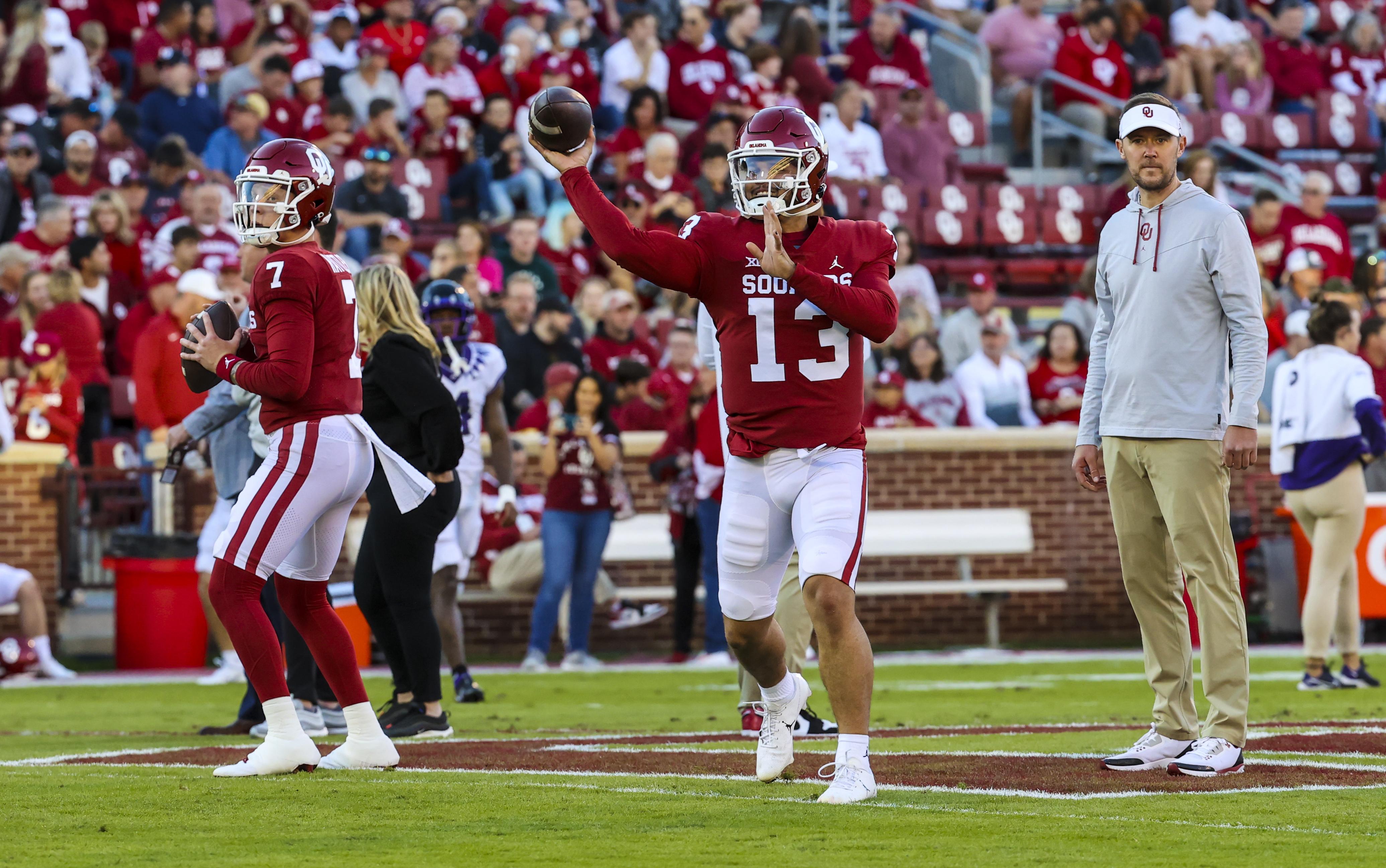 NCAA Football: Texas Christian at Oklahoma