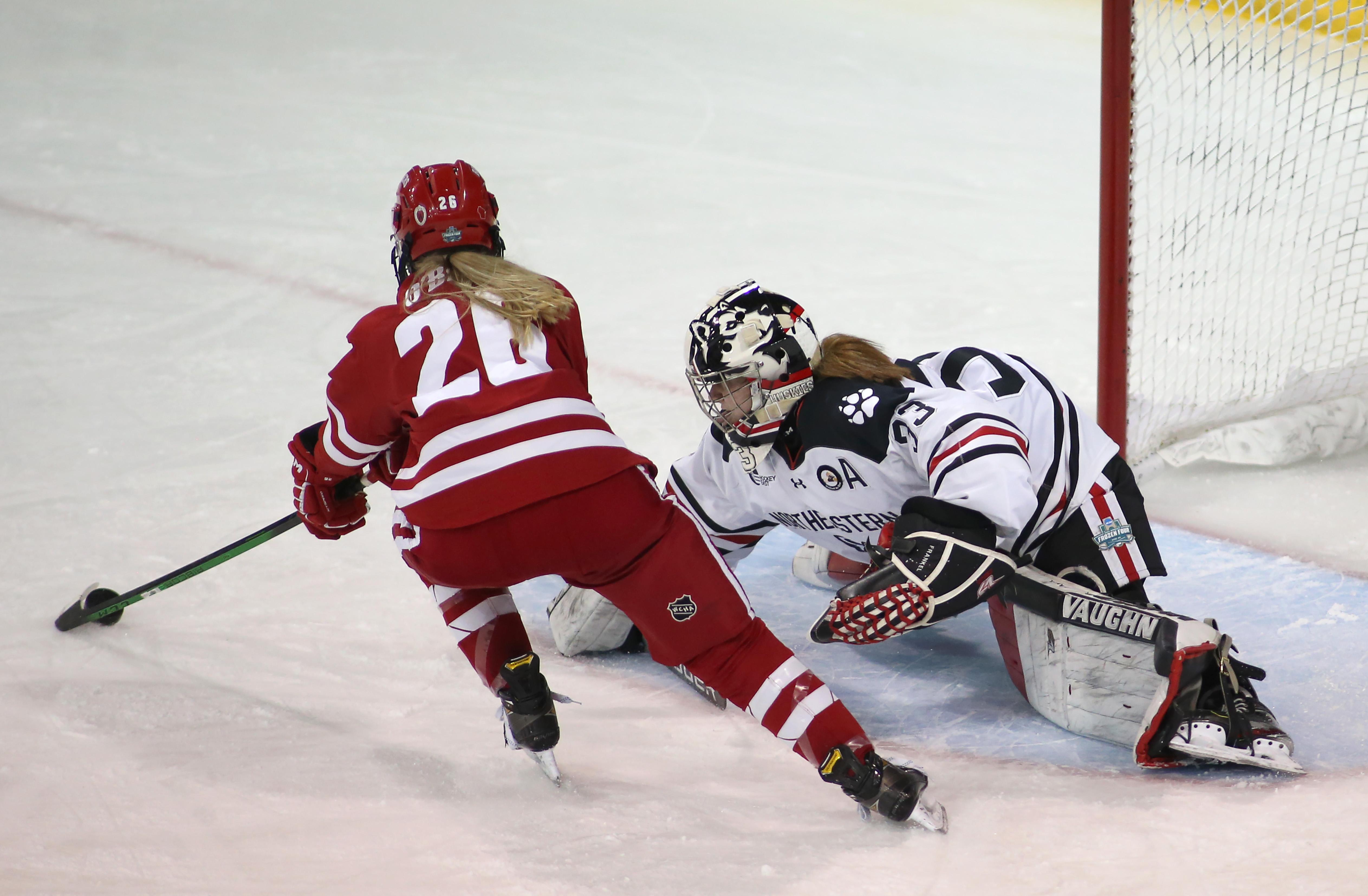 NCAA HOCKEY: MAR 20 Div I Women's Championship - Northeastern v Wisconsin