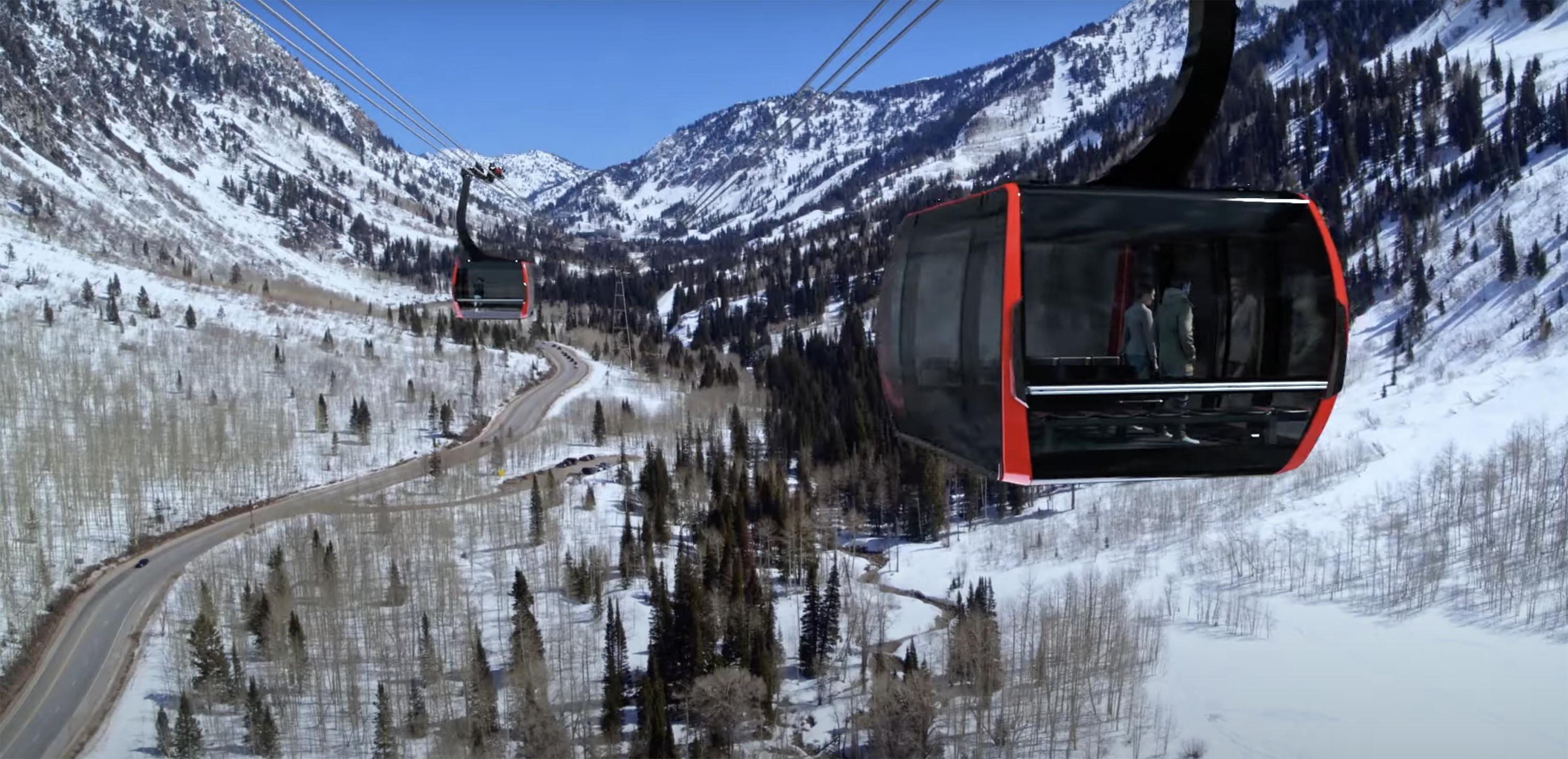 Gondola Works released an animated video that depicts what a gondola system would look like in Little Cottonwood Canyon.