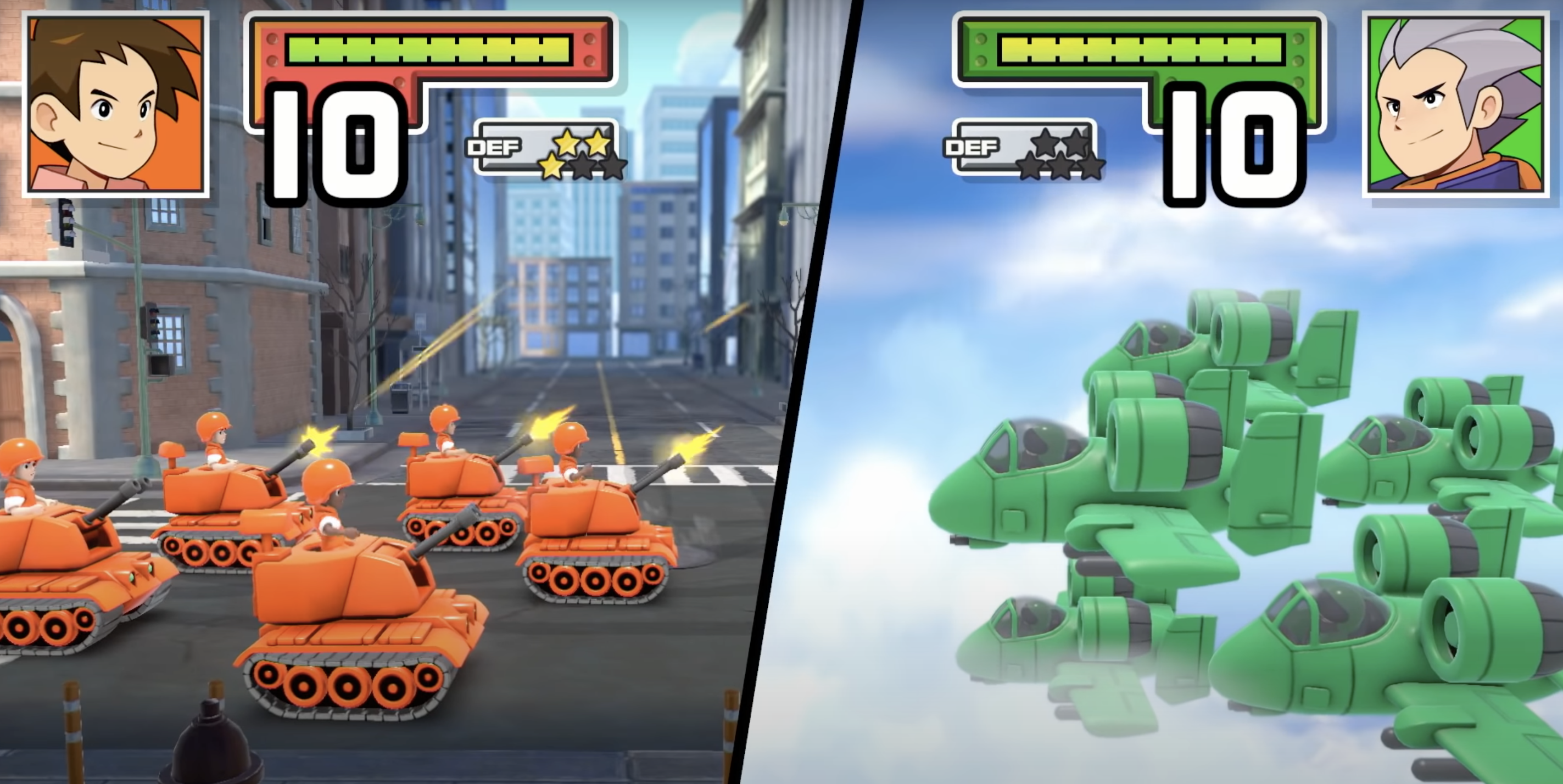 a screenshot of gameplay from advance wars