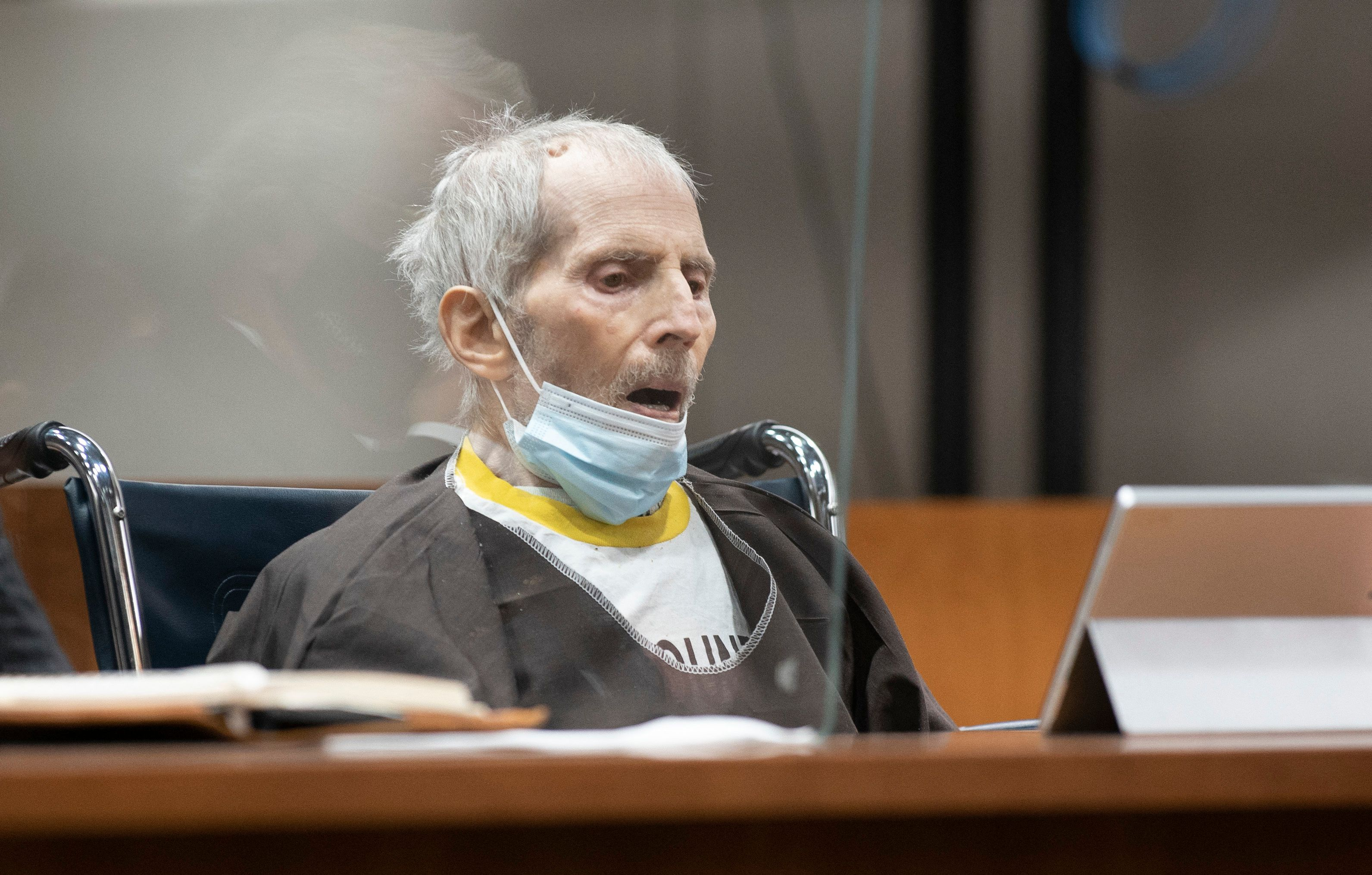 In this file photo taken on October 14, 2021, Robert Durst is seen in Los Angeles as he is sentenced to life without possibility of parole for the killing of Susan Berman.