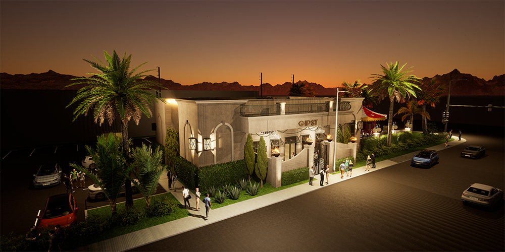 A rendering of future, 10,00-square-foot Gipsy nightclub, under construction on Paradise Road.