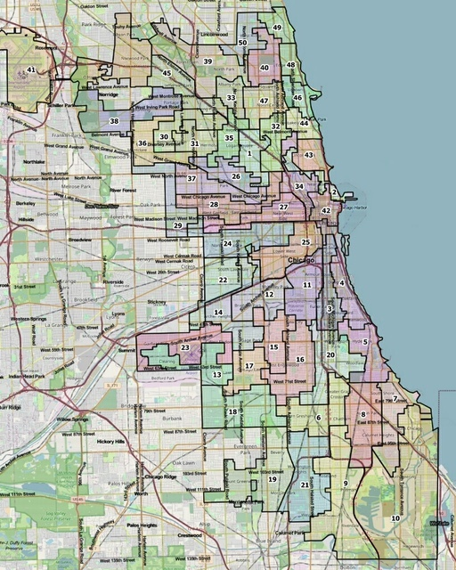 The City Council Latino Caucus's proposed ward map includes 2 additional majority-Hispanic wards and a majority-Asian ward.
