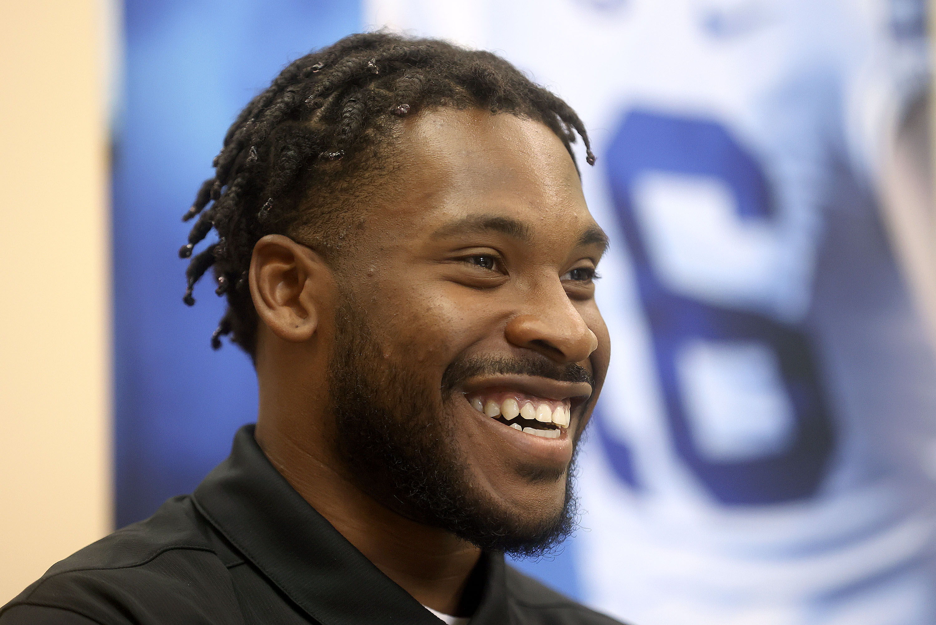 BYU cornerback Keenan Ellis talks to media during BYU media day at the BYU Broadcasting Building in Provo on June 17, 2021.