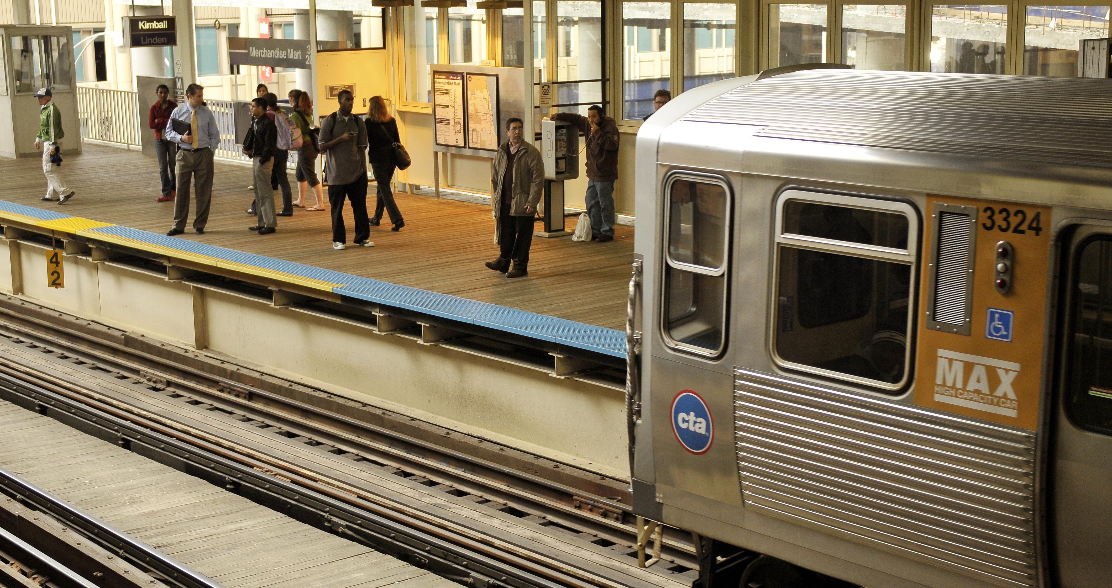 A CTA rail platform