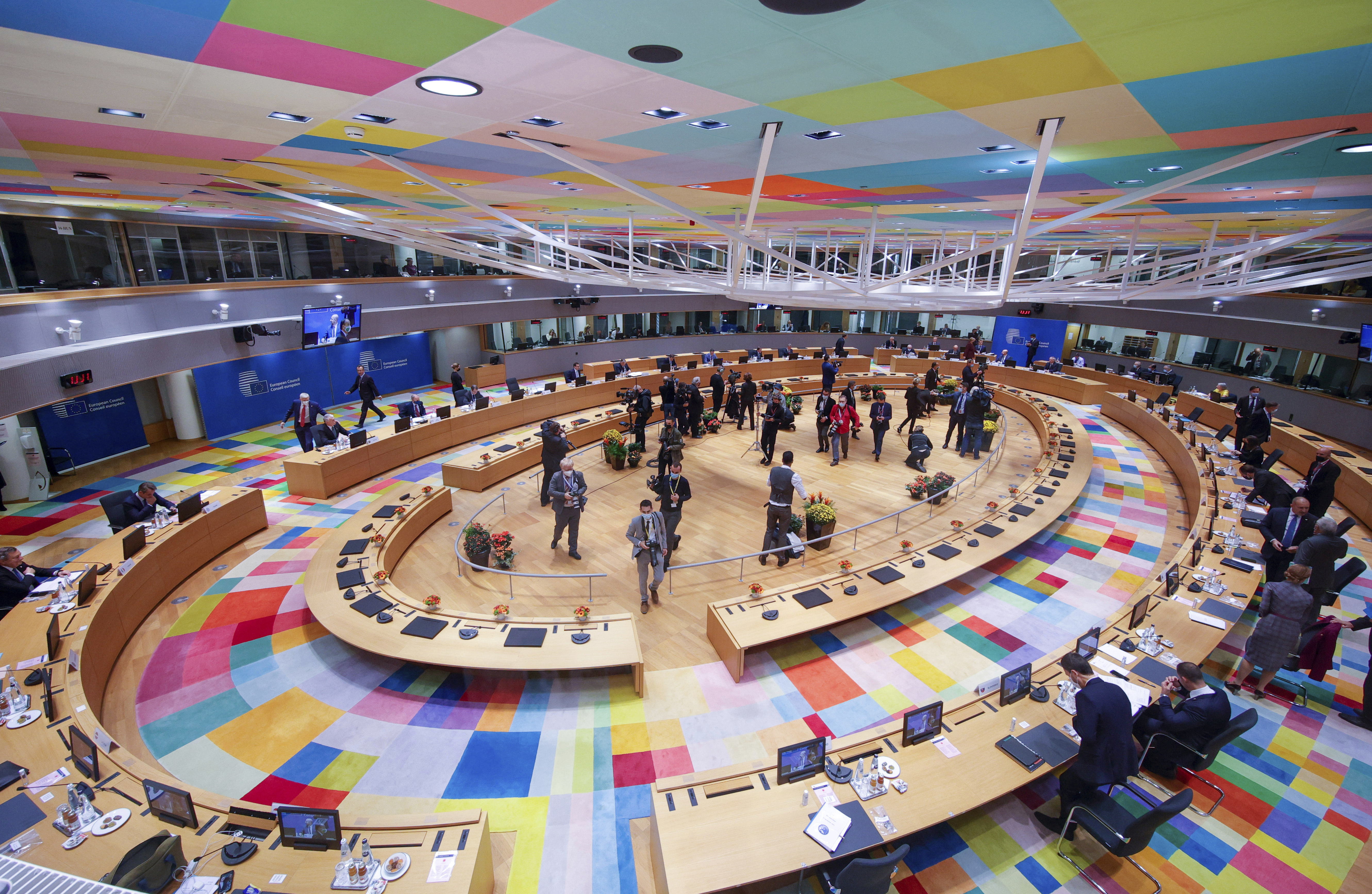 European Union leaders conclude on Friday a two-day summit in Brussels in which they discussed pressing issues including climate change.