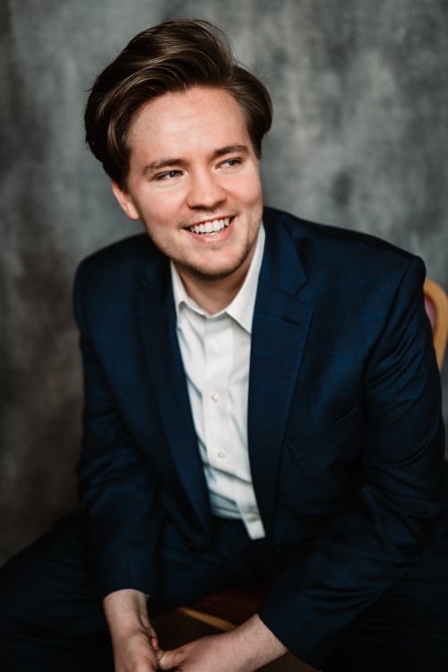 Jonah Hoskins, a 24-year-old tenor and former BYU student, is competing in the finals of the Operalia competition on Sunday.