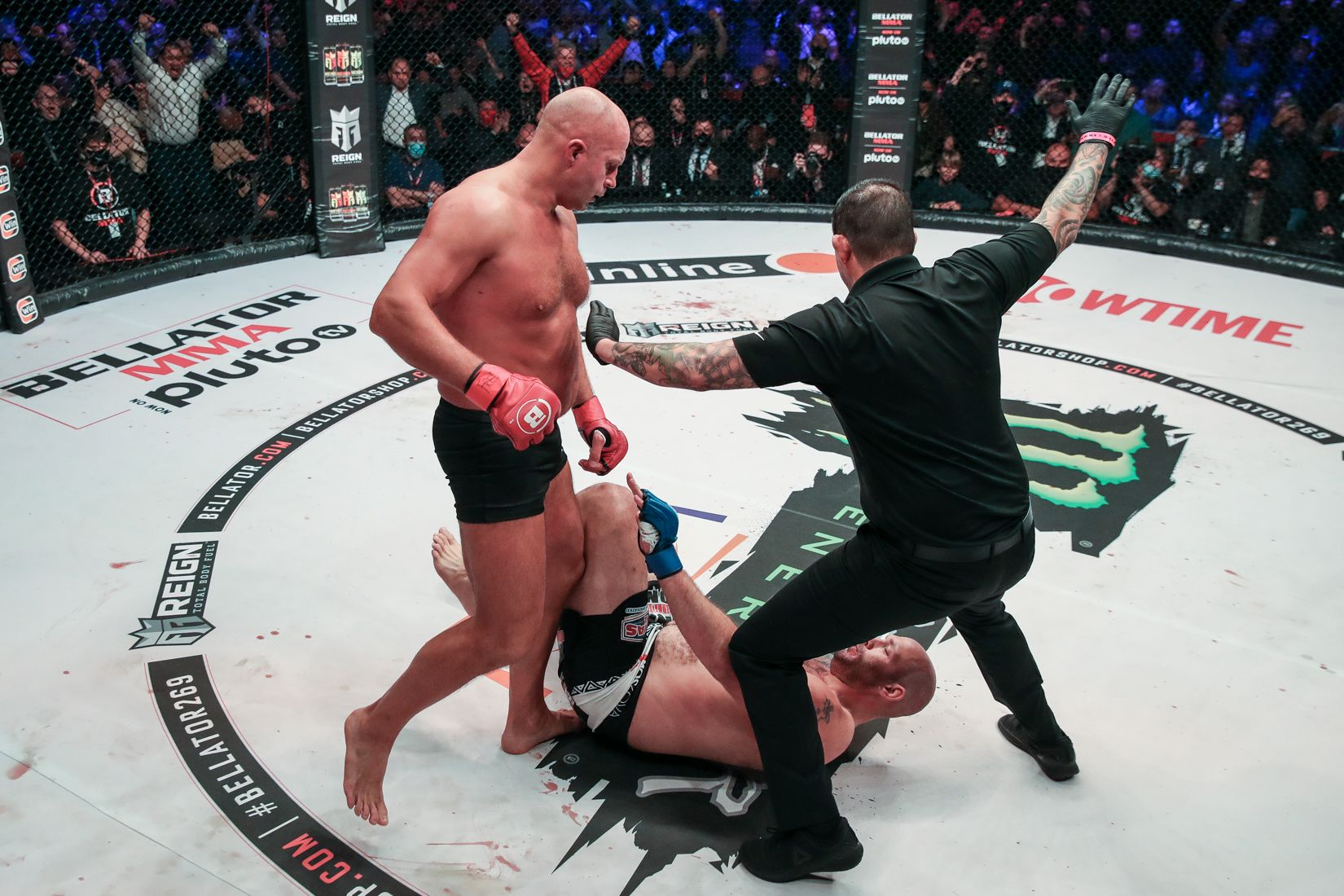 Fedor Emelianenko knocked out Tim Johnson at Bellator 269 in Moscow.