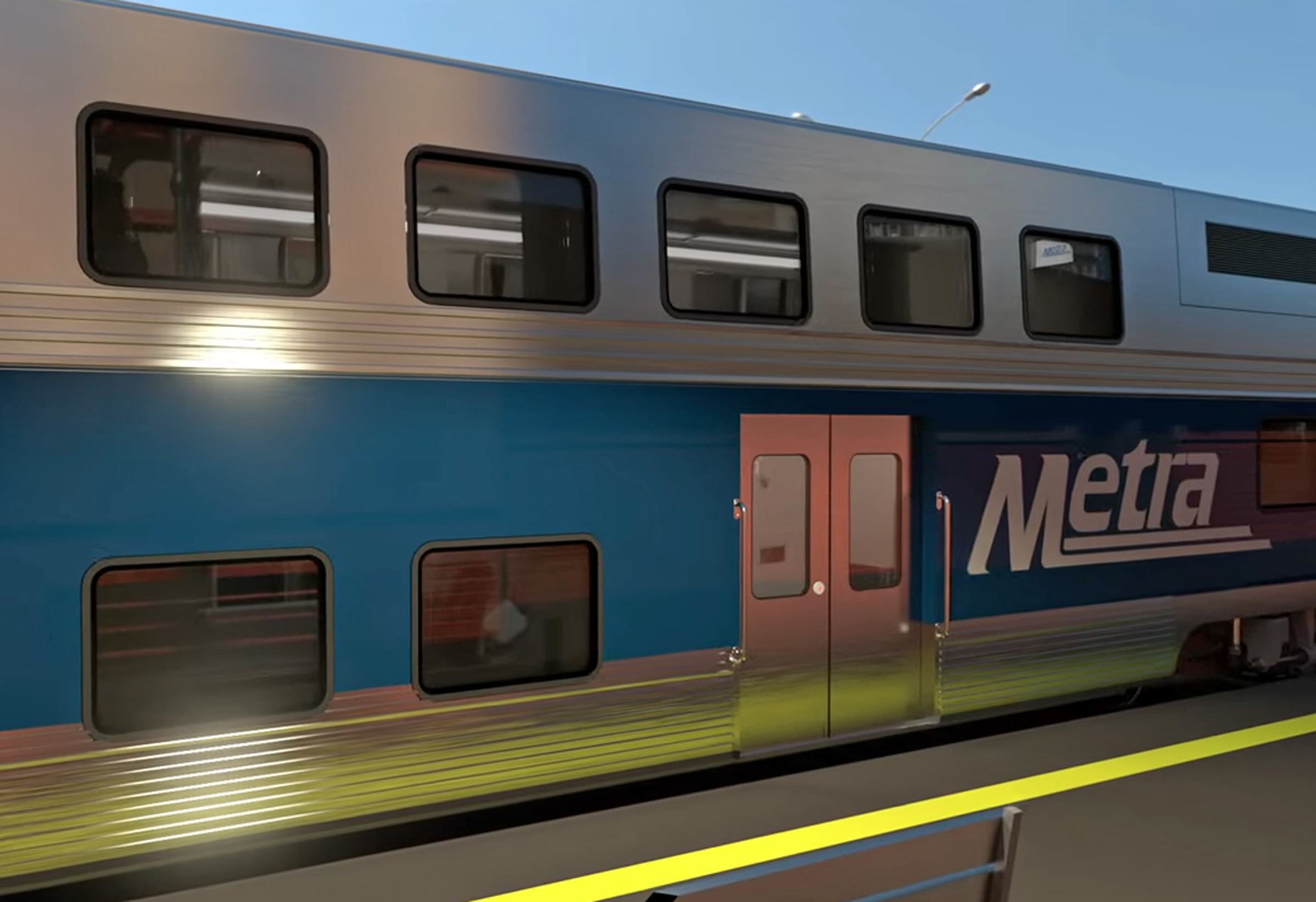 A unmarked CPD car was struck by a Metra train Oct. 23, 2021, in Elmwood Park.