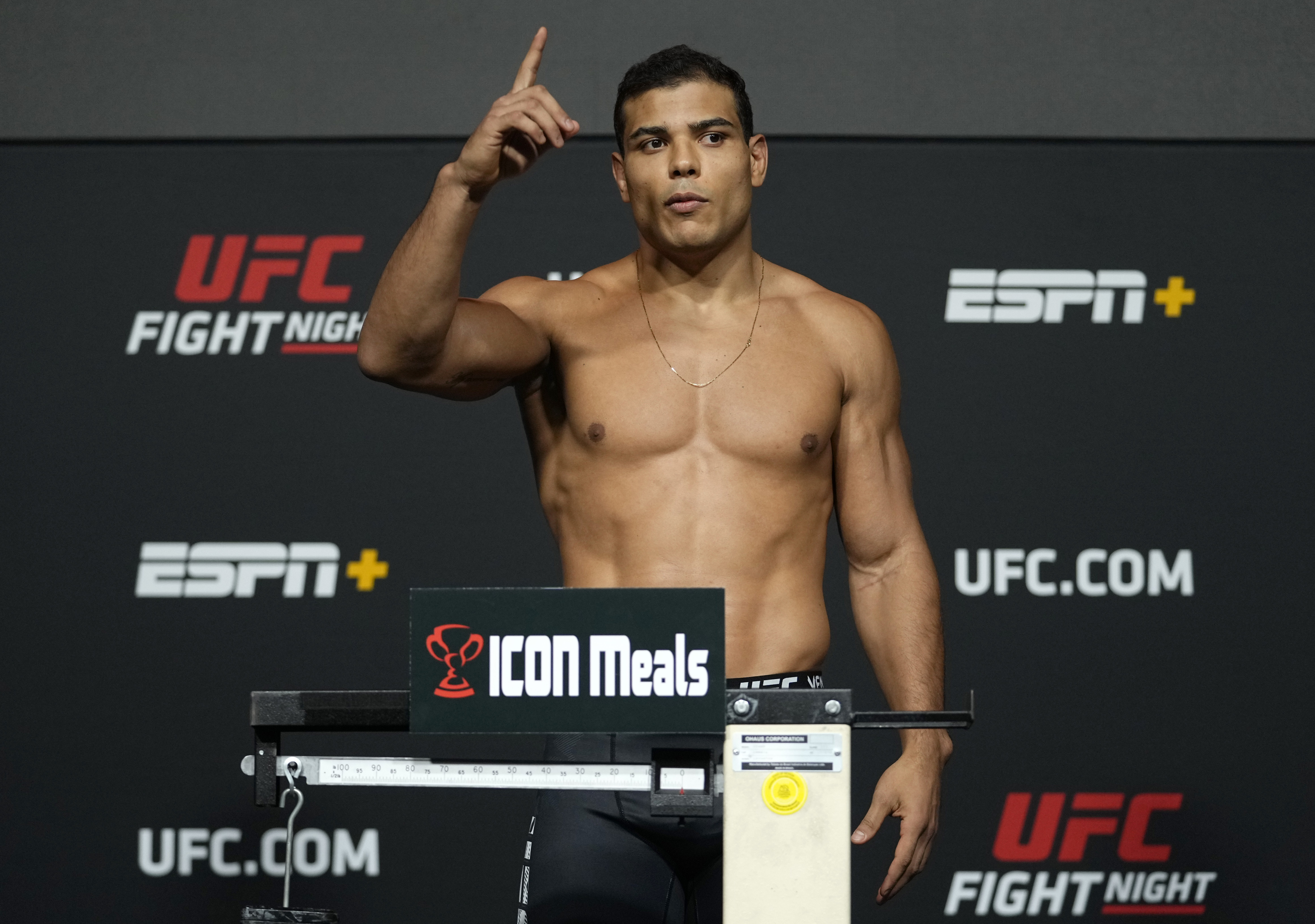 Paulo Costa weighed in at the light heavyweight division.