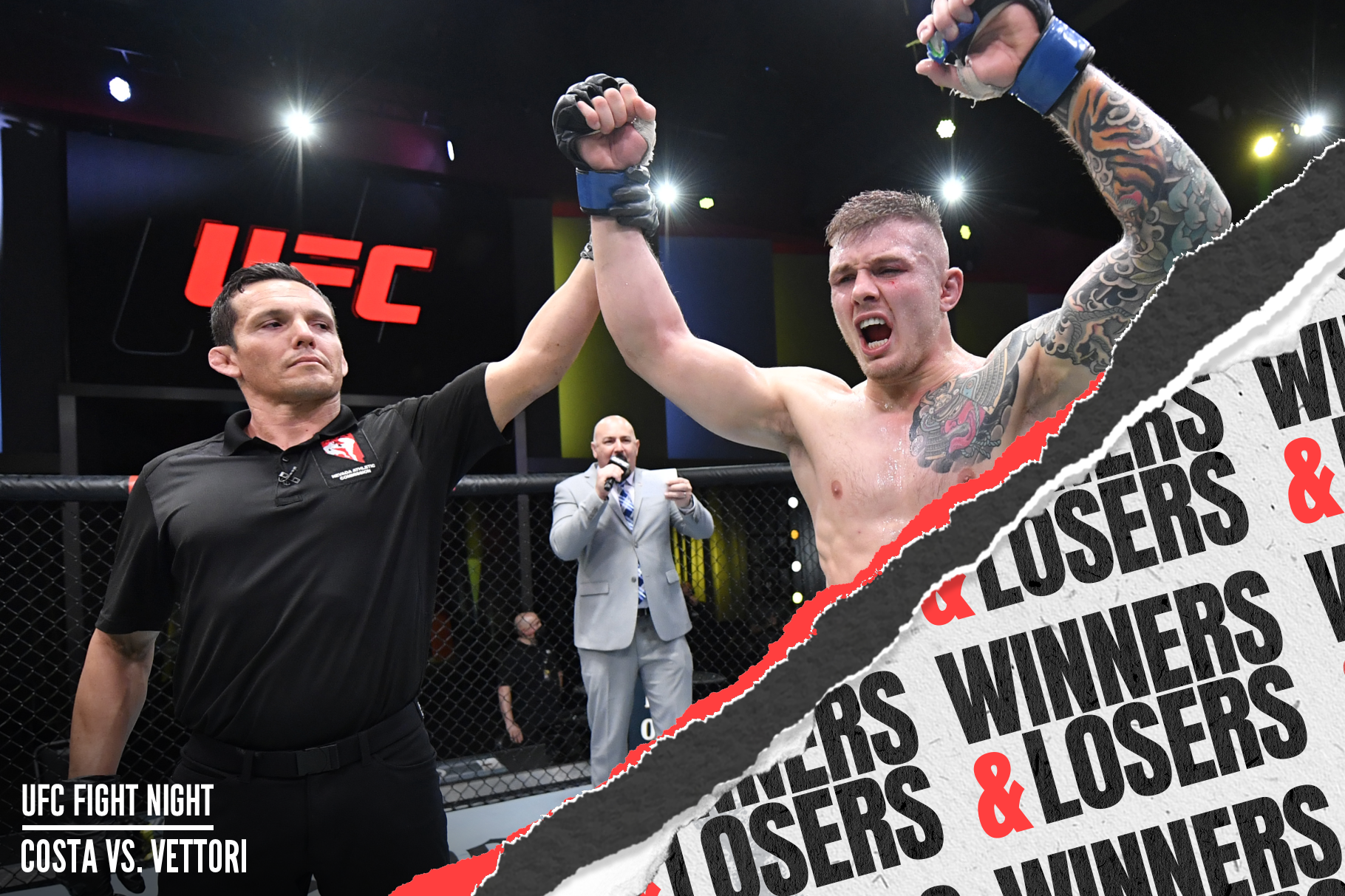 Marvin Vettori after his UFC Vegas 41 win over Paulo Costa.