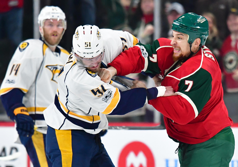 NHL: FEB 18 Predators at Wild