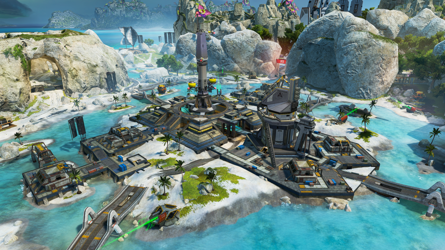Barometer, the large structure at the center of Apex Legends' new Storm Point map