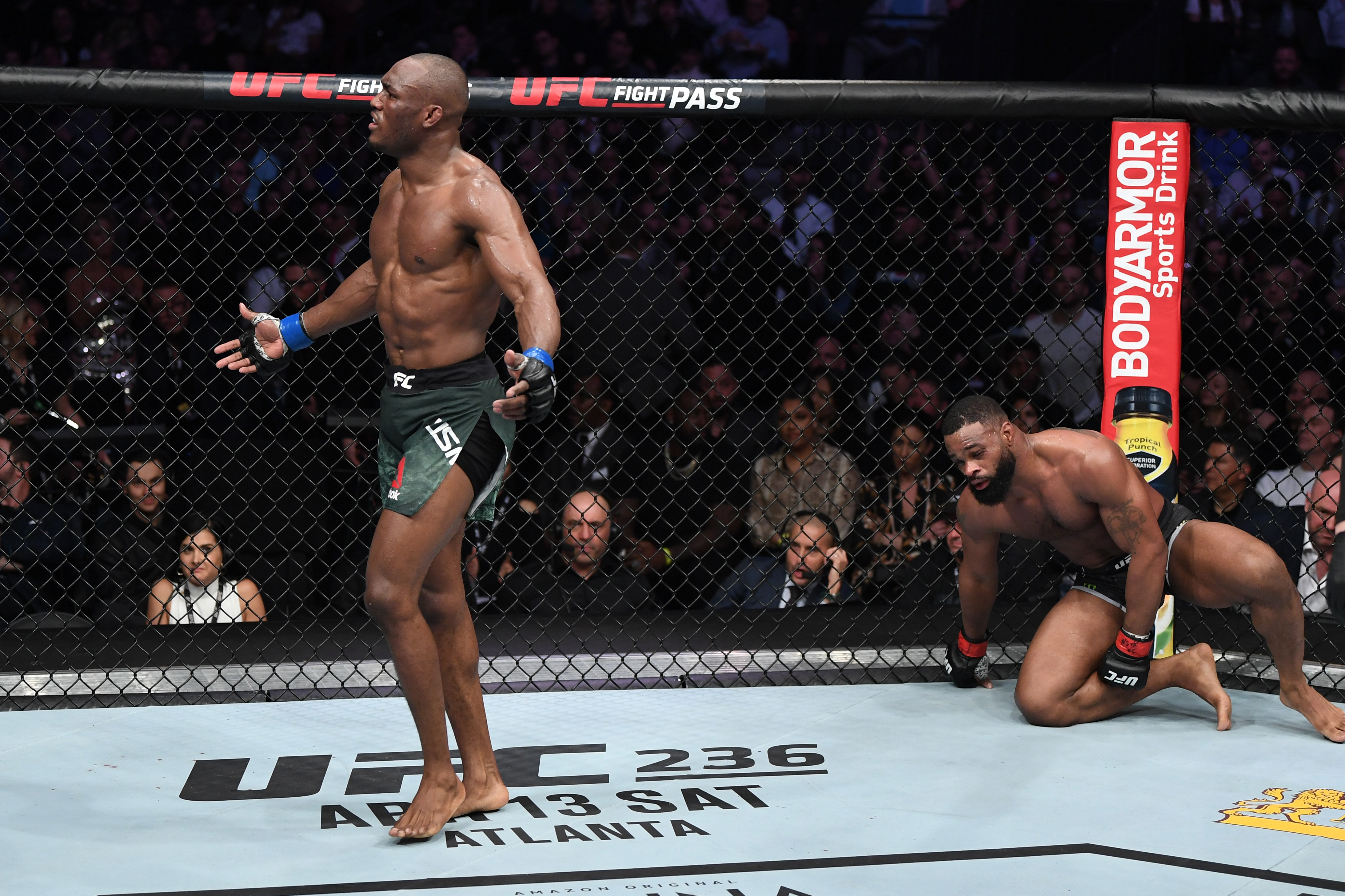 Kamaru Usman dominated Tyron Woodley at UFC 235 to become the undisputed welterweight champion.