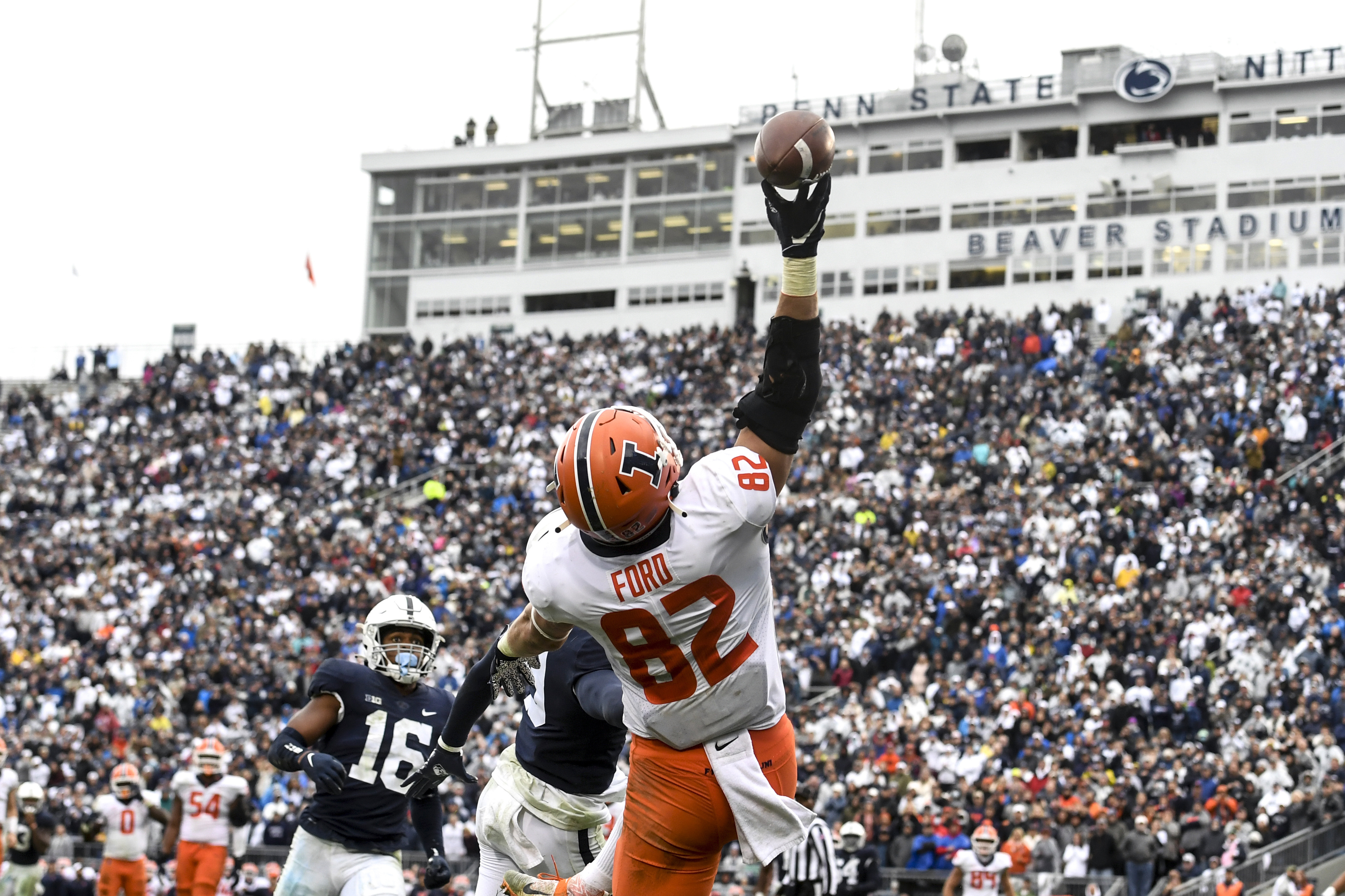 Illinois defeated Penn State in a nine-overtime game on Saturday.