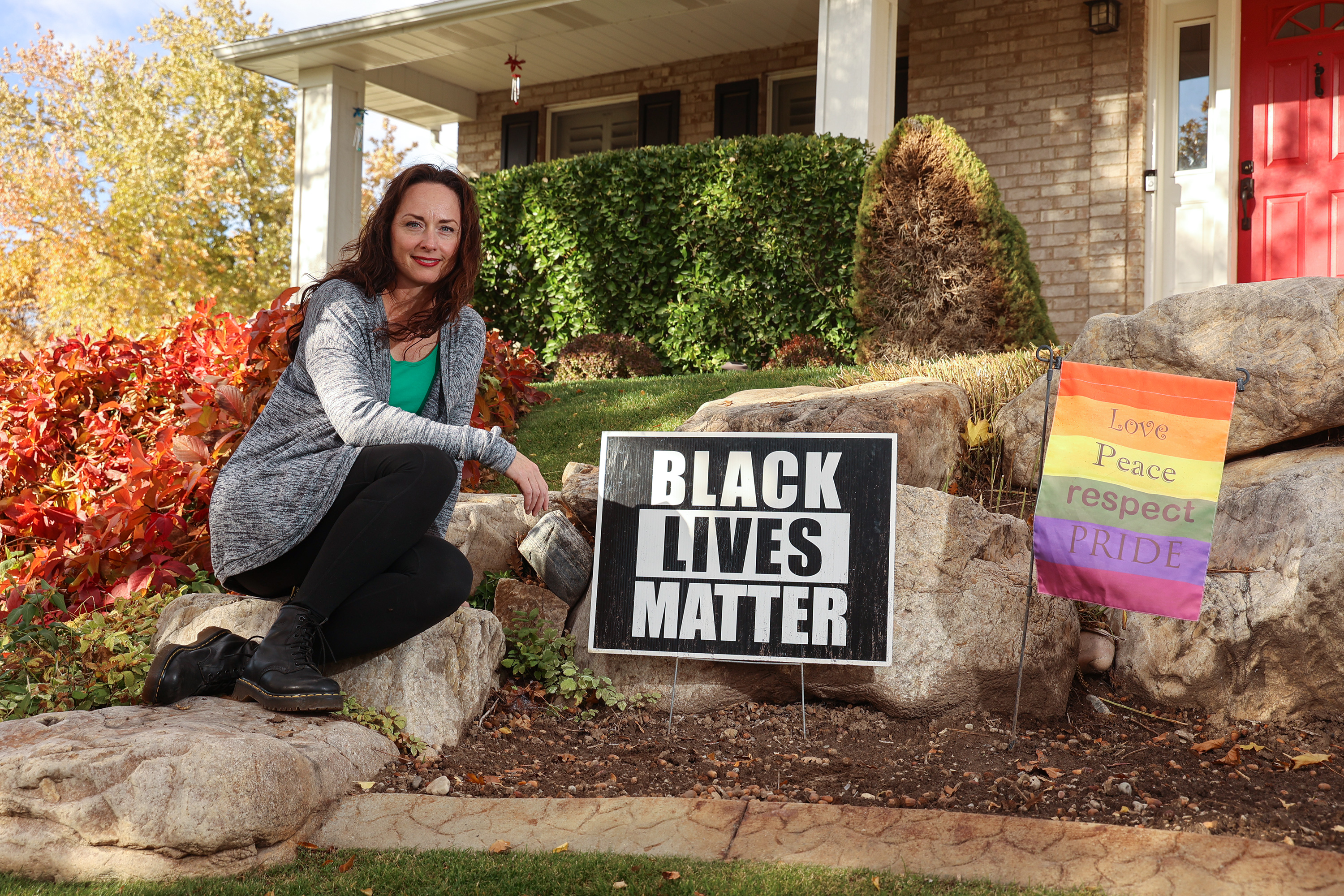 Shauntel Black poses for photos at her Layton home.