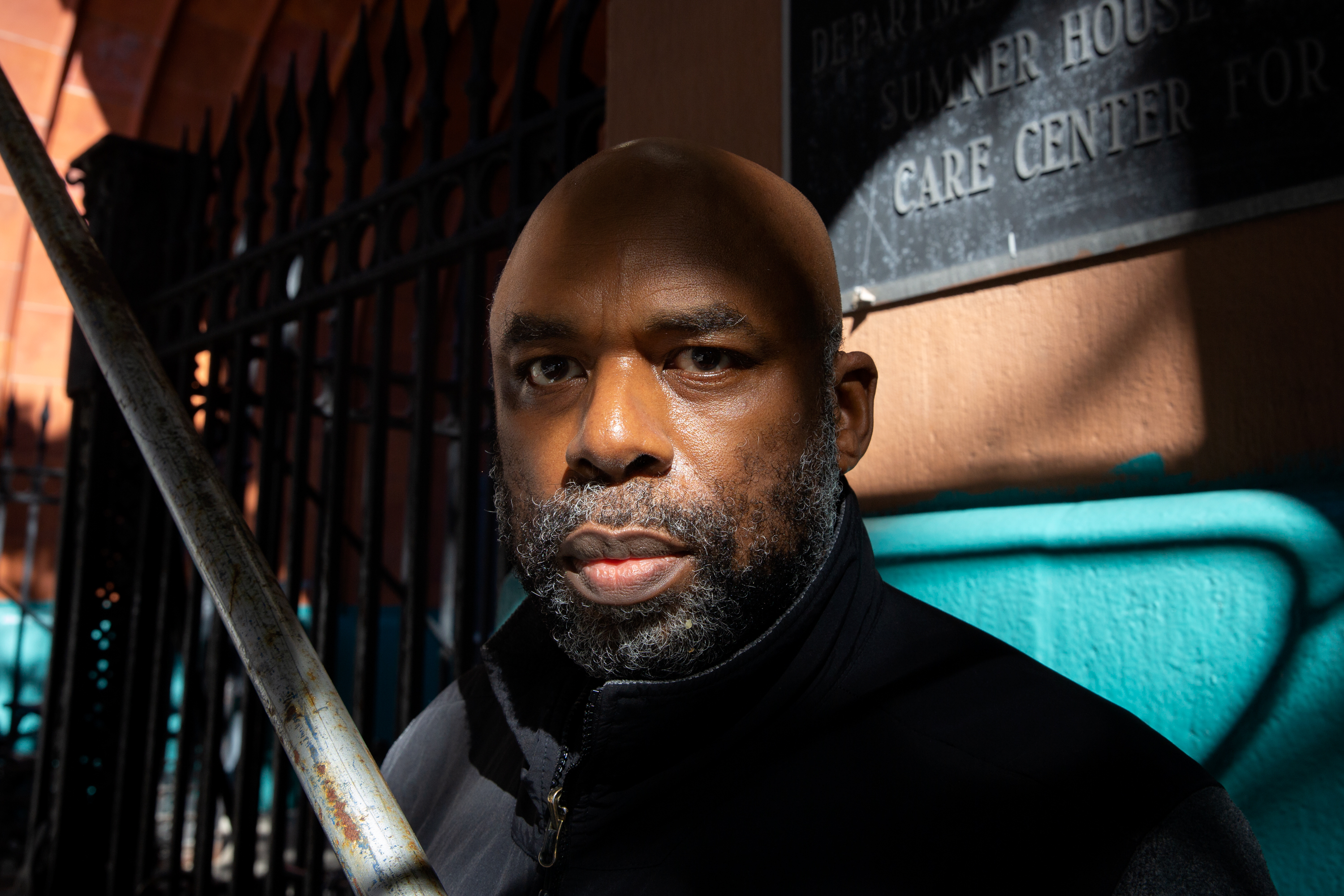 Musician Wayne Batchelor has been staying at a Bed-Stuy shelter, Oct. 19, 2021.