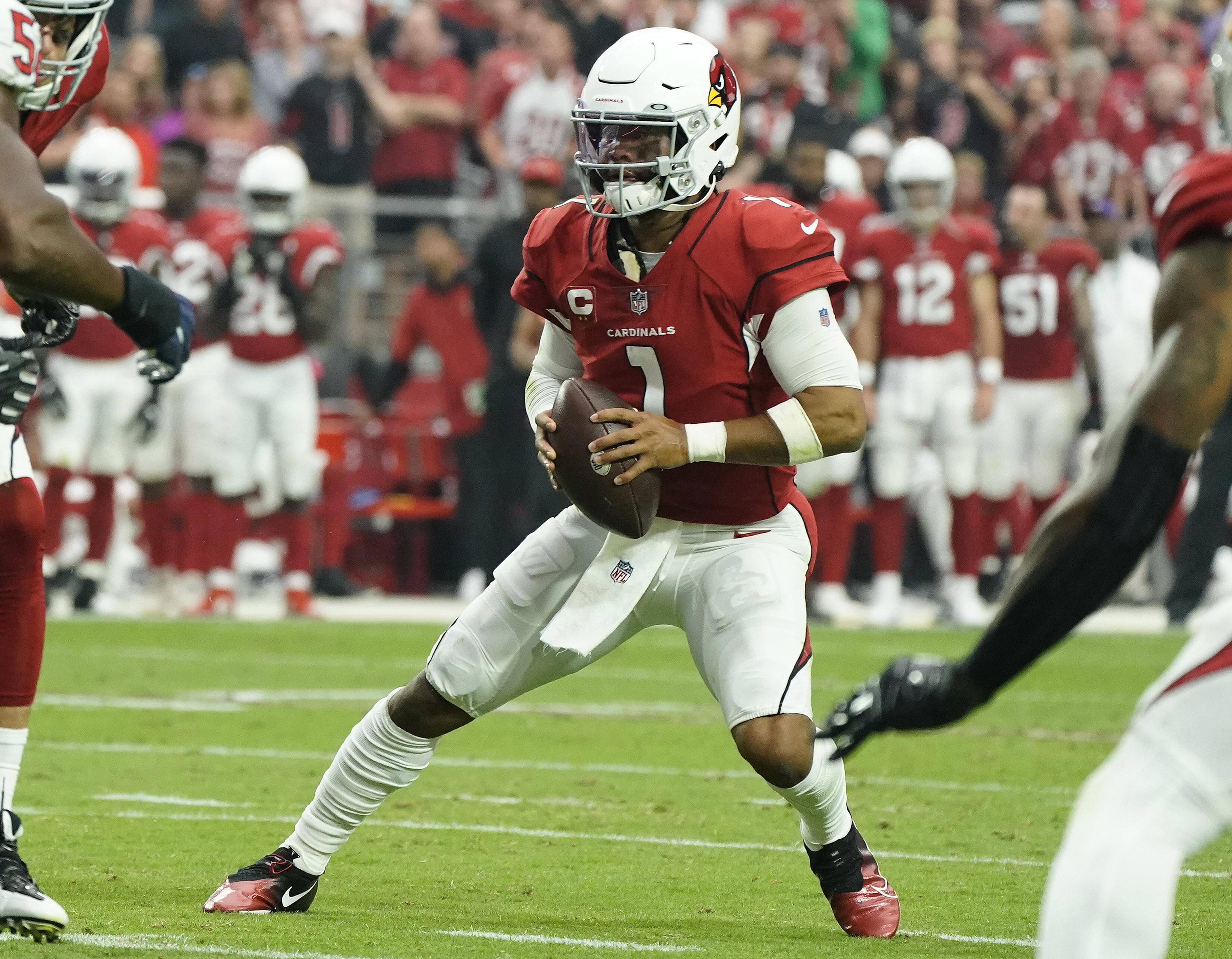 Arizona Cardinals quarterback Kyler Murray (1) during the second half of an NFL football game.
