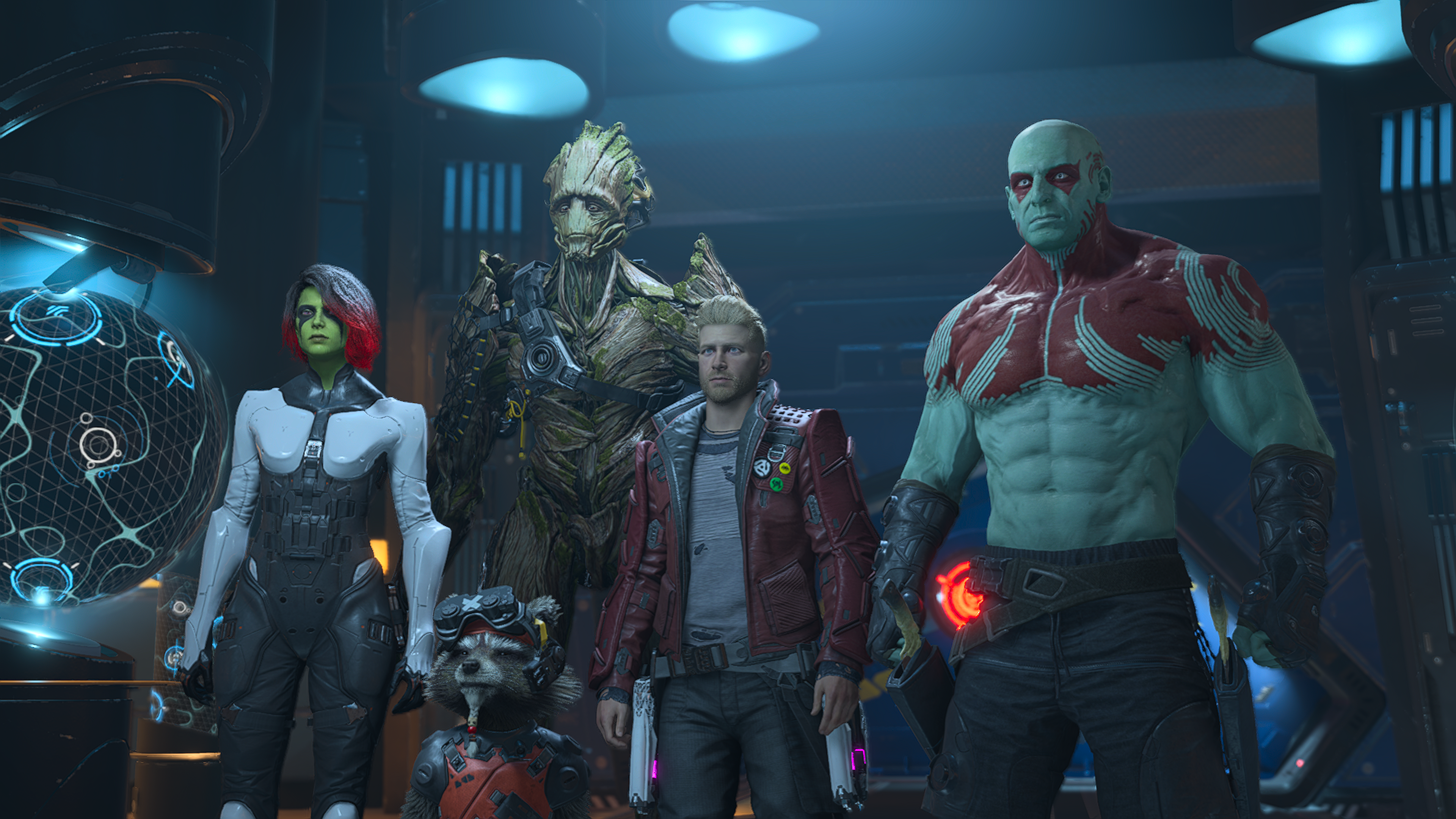Marvel's Guardians of the Galaxy standing together