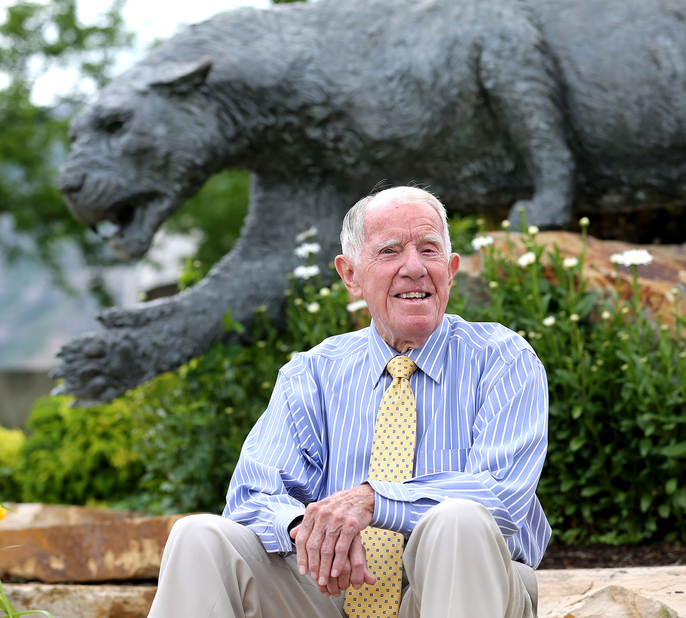 Former BYU athletic director Glen Tuckett, June 10, 2015, in Provo.