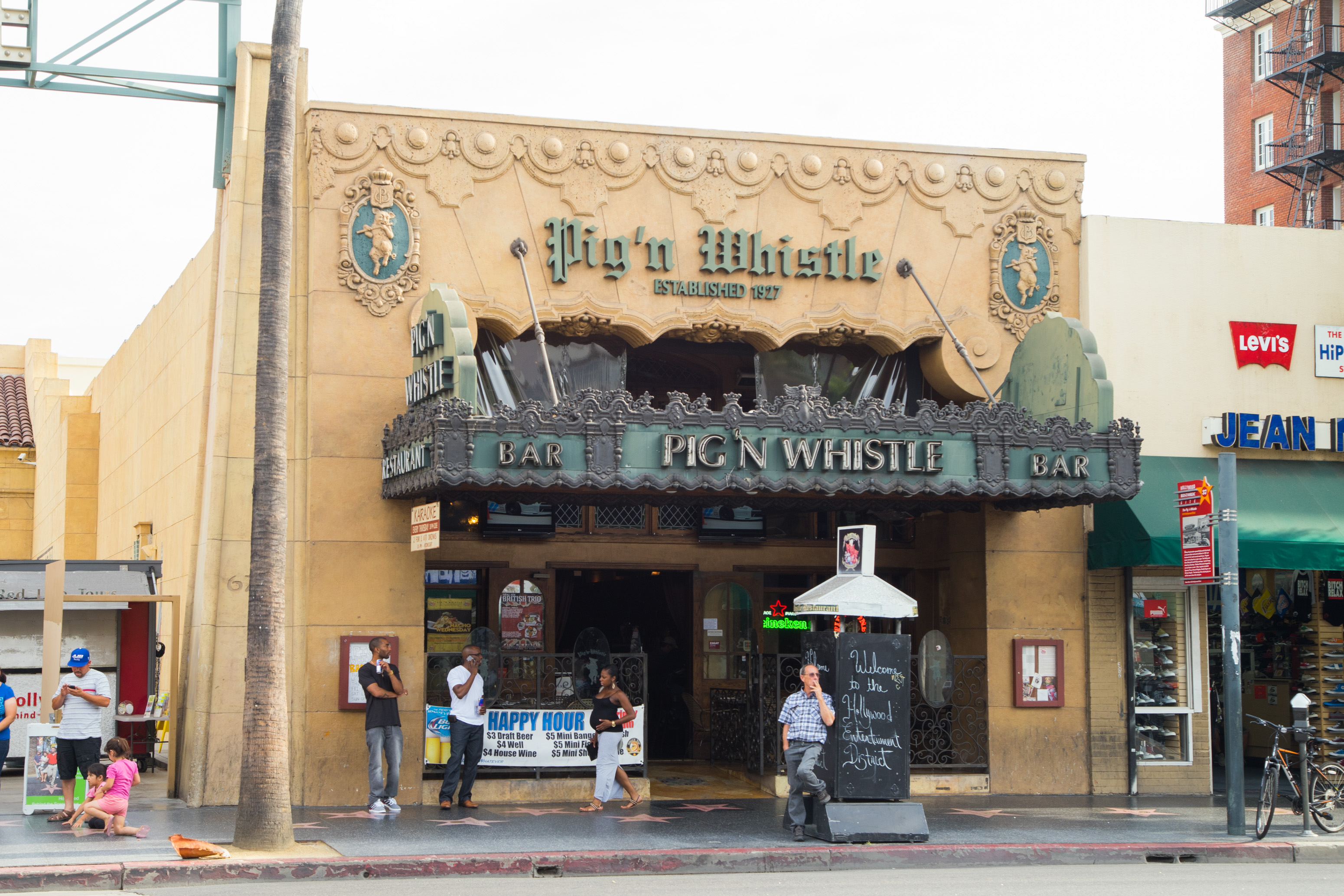 Outside of Pig 'n Whistle in Hollywood in 2014.