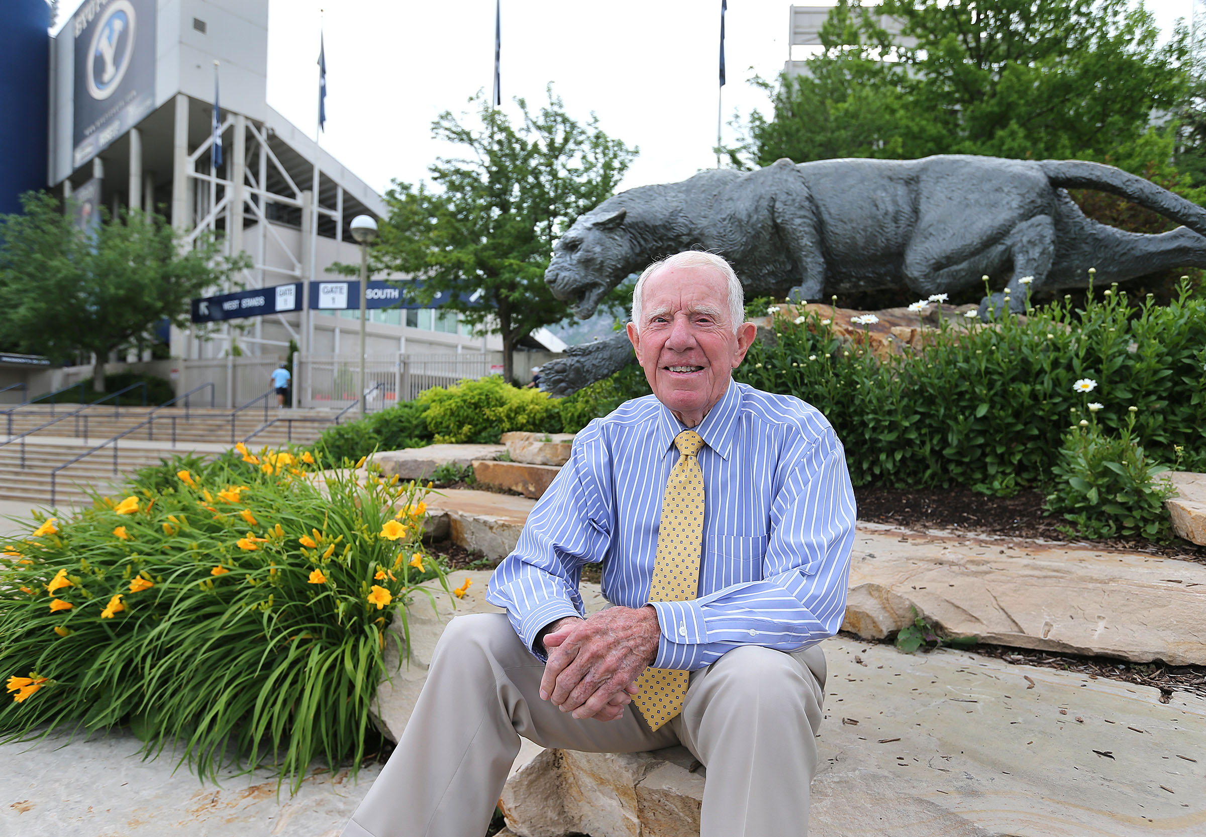 Former BYU Athletic Director Glen Tuckett, June 10, 2015, in Provo. Tuckett died Tuesday, Oct. 26, 2021, at the age of 93.