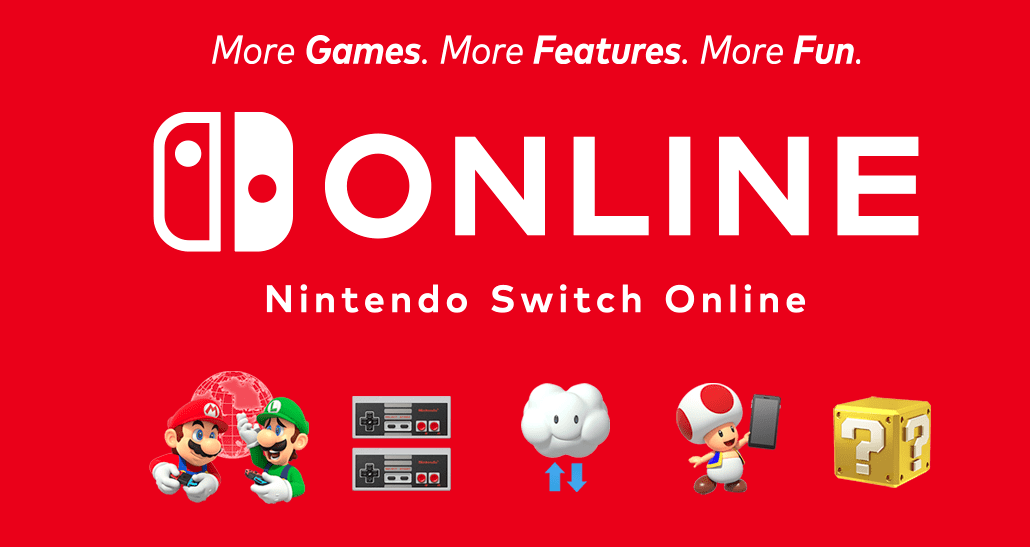 title card advertising Nintendo Switch Online and its Expansion Pack