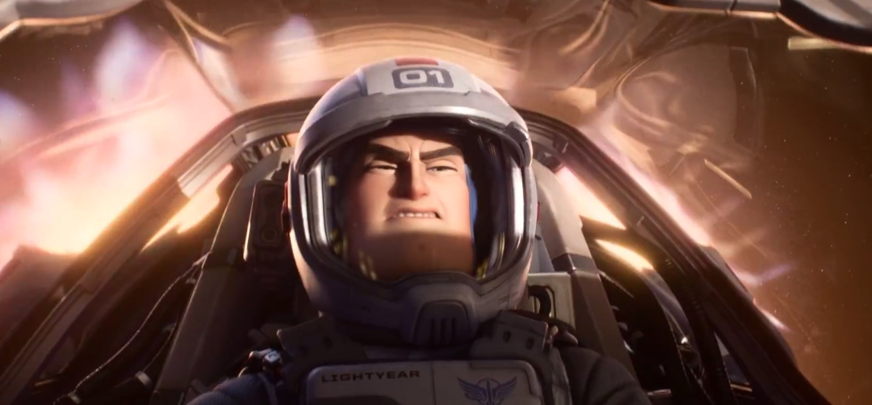 Buzz Lightyear (the real one) flying in space