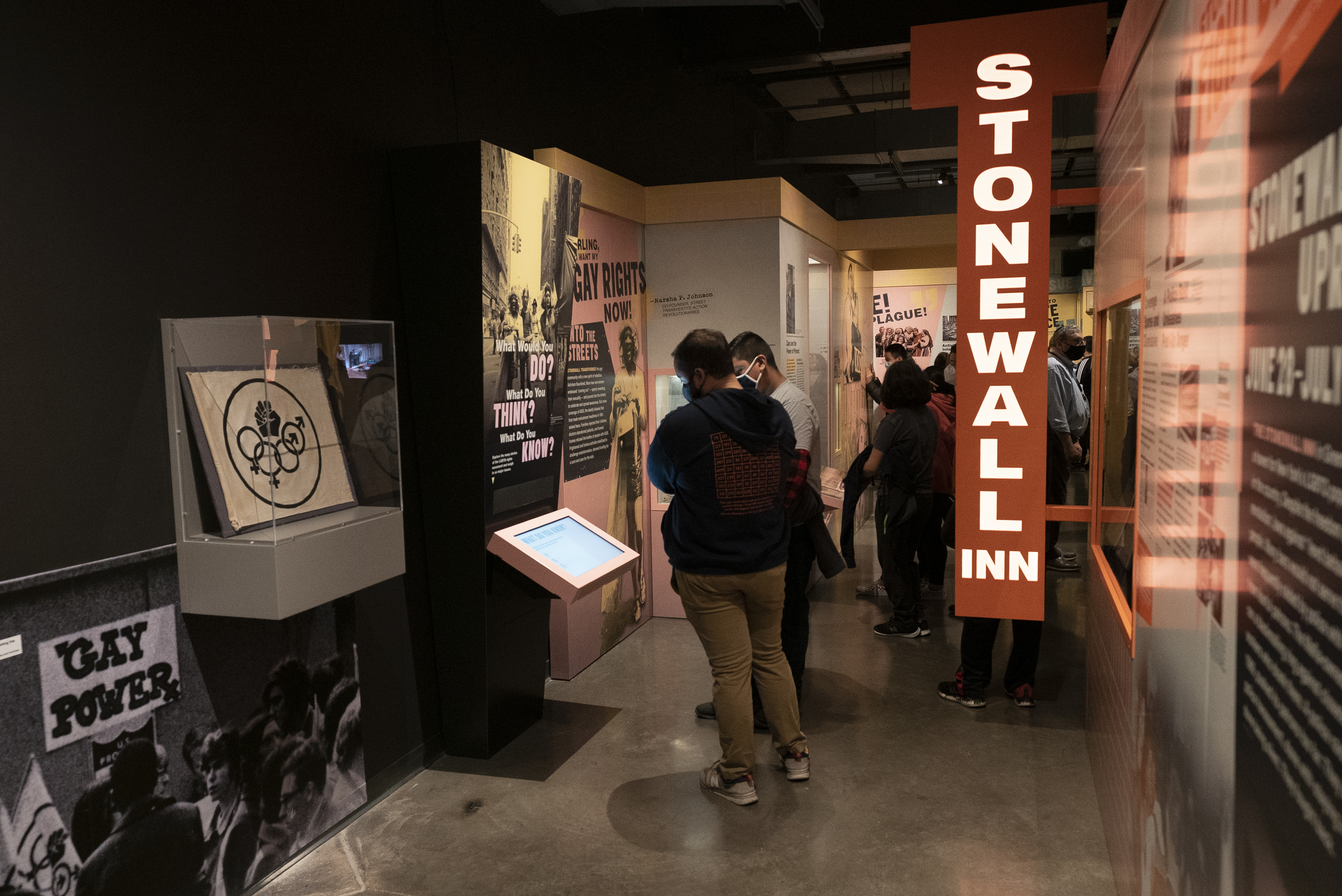 A new exhibit features historic images and artifacts of the LGBTQ+ rights movement.