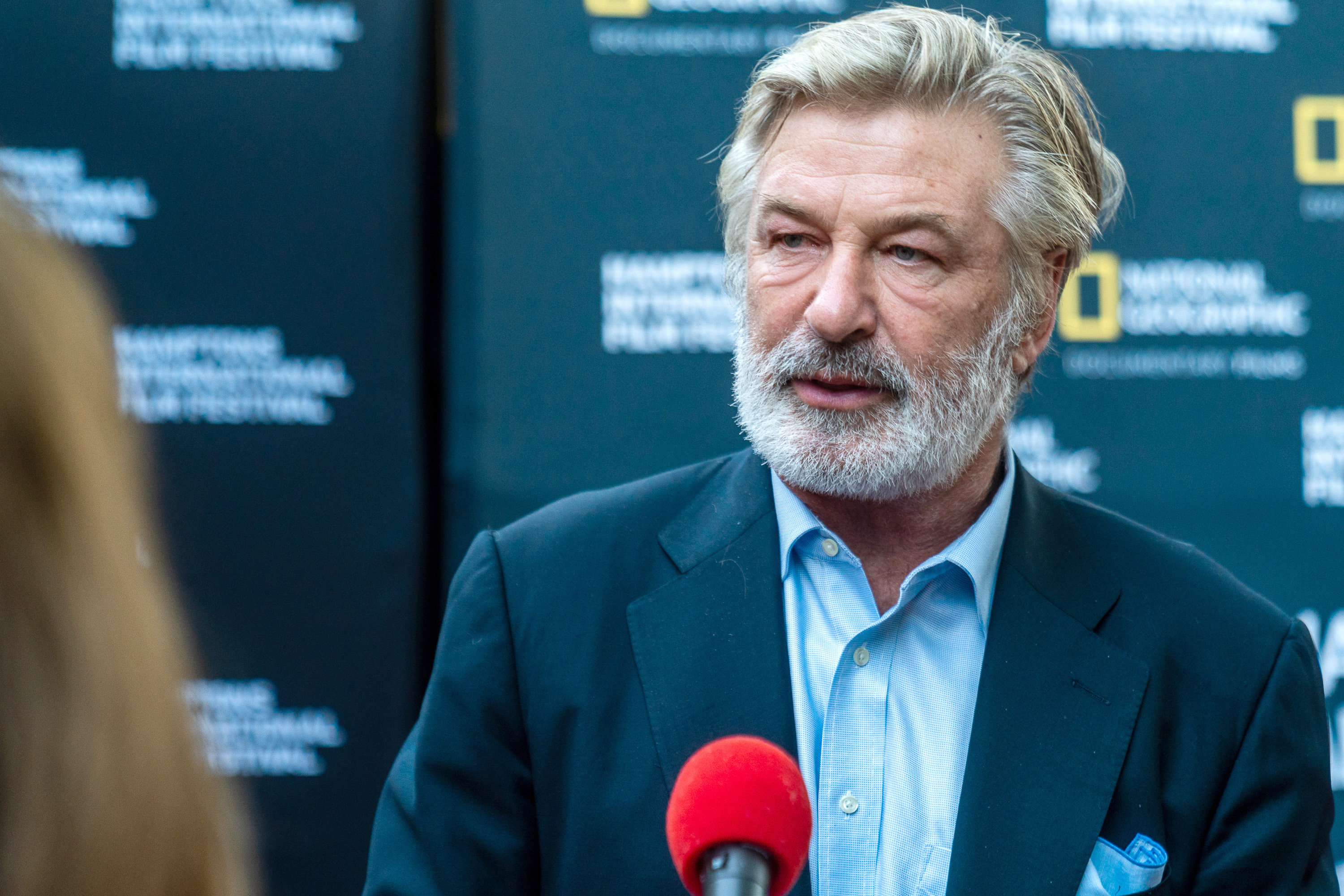 Alec Baldwin attends a National Geographic premiere in East Hampton, New York.