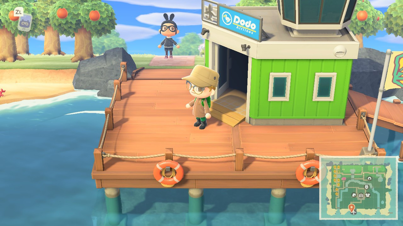 Arriving at the airport in Animal Crossing New Horizons