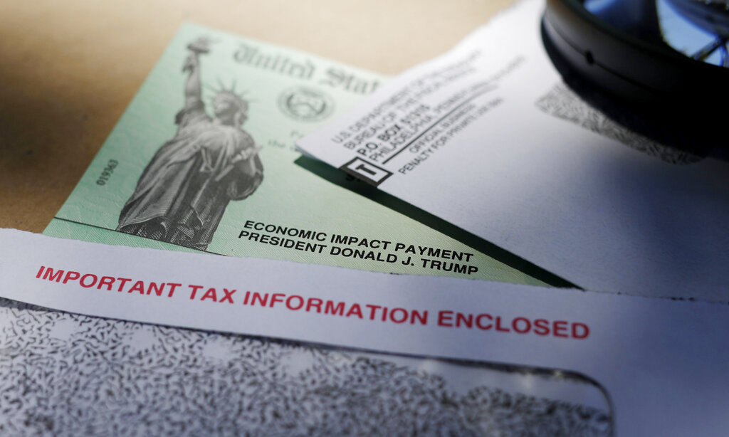 A stimulus check issued by the IRS.