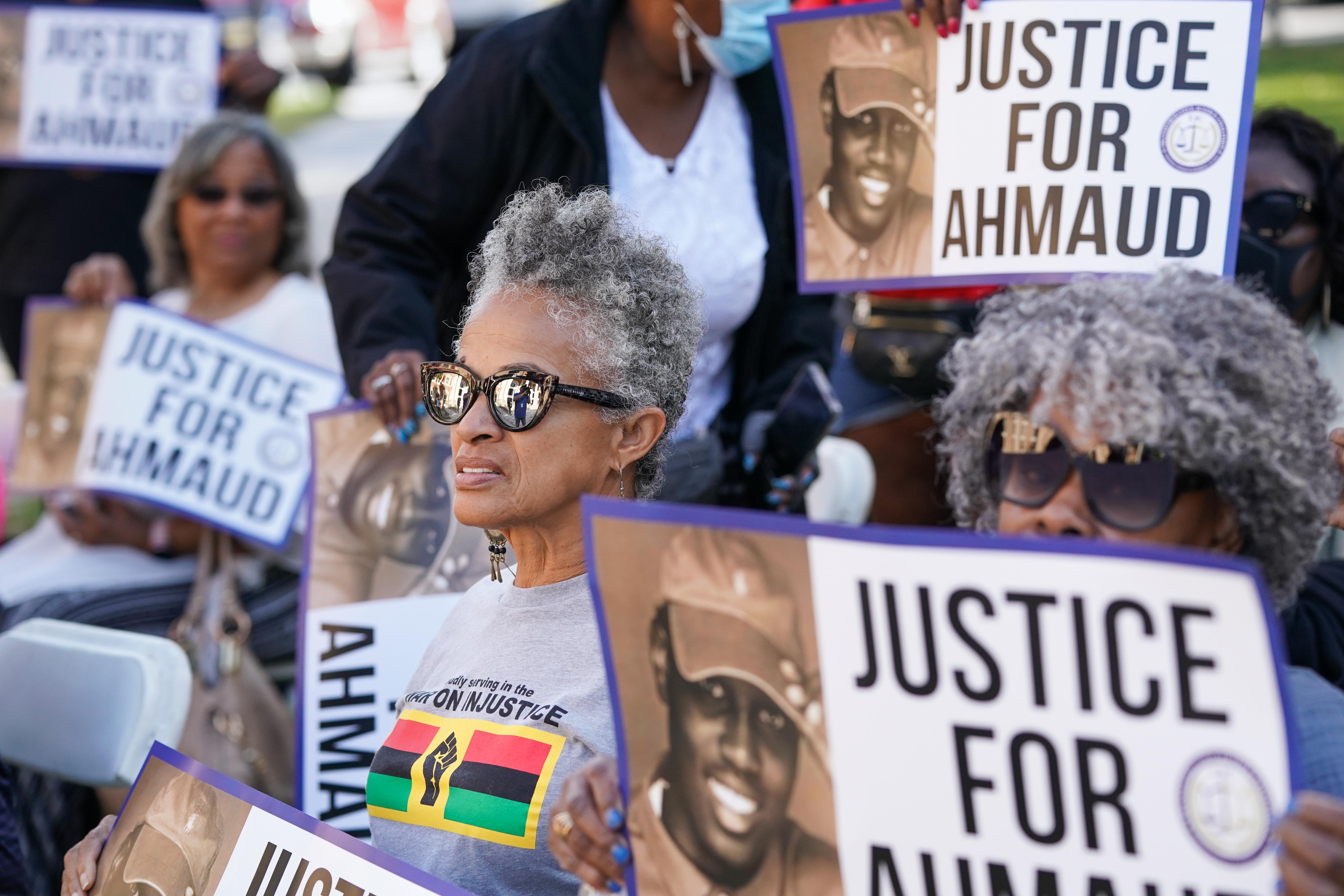 Ahmaud Arbery protesters