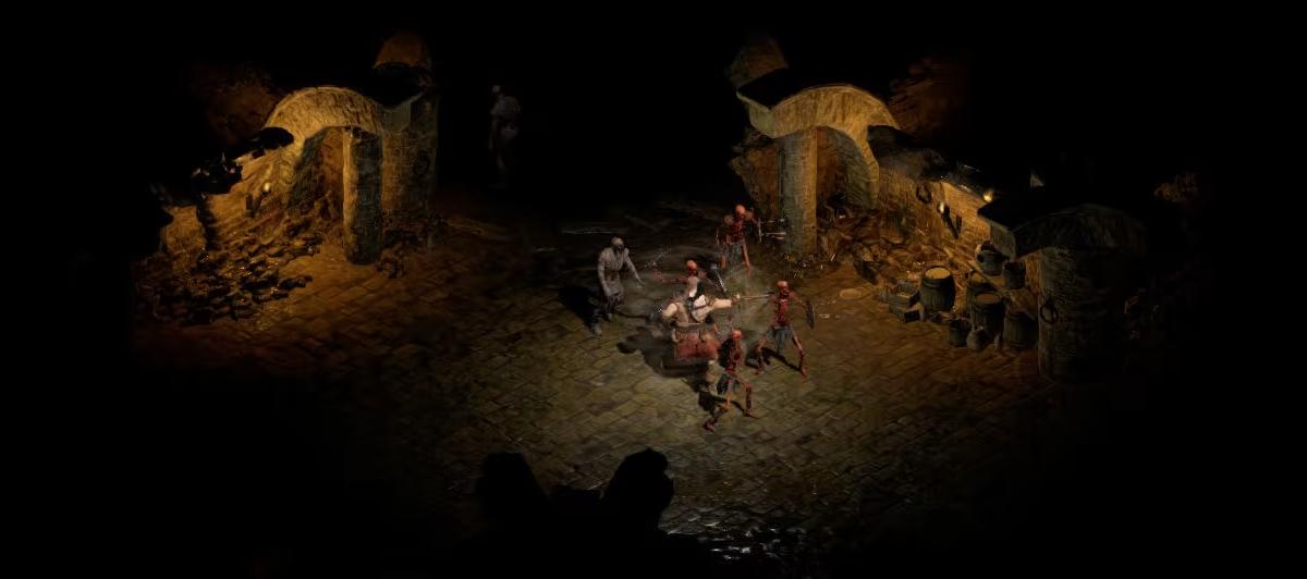 Fighting demons in Diablo 2