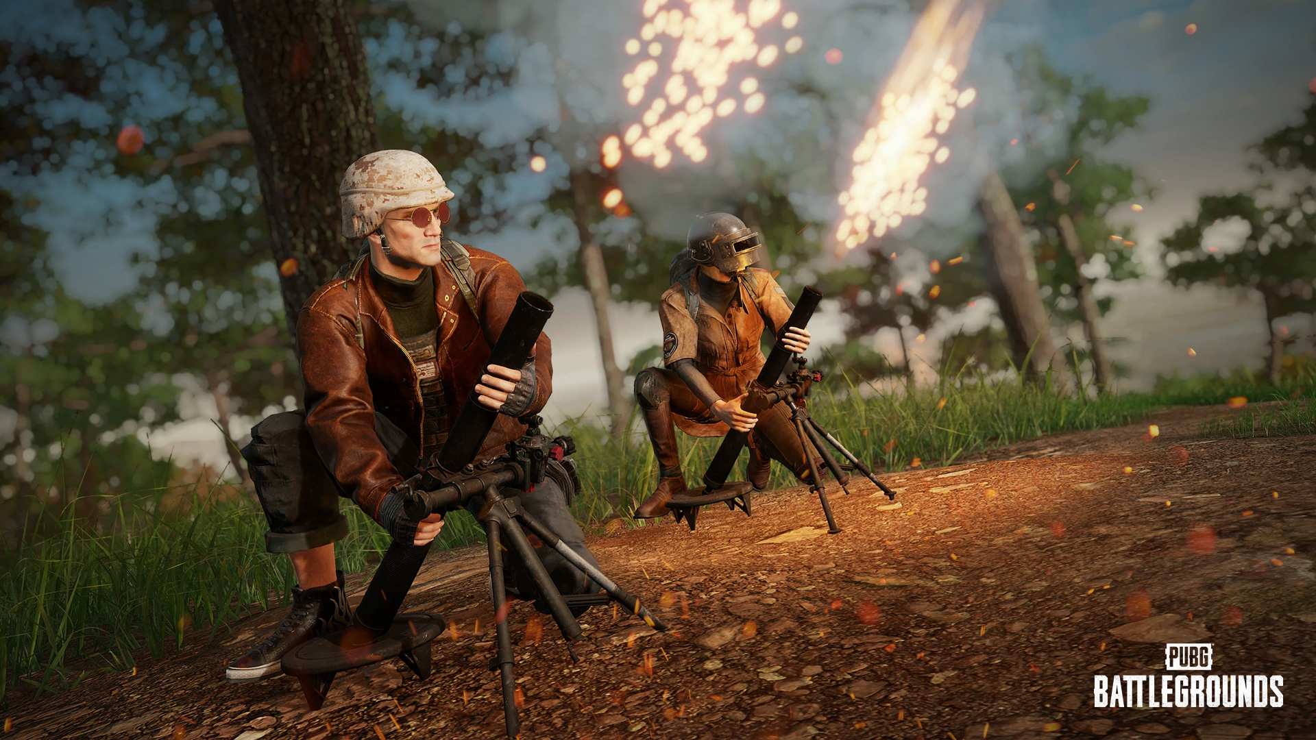 Players launch mortars at their enemies in Player Unknown's Battlegrounds