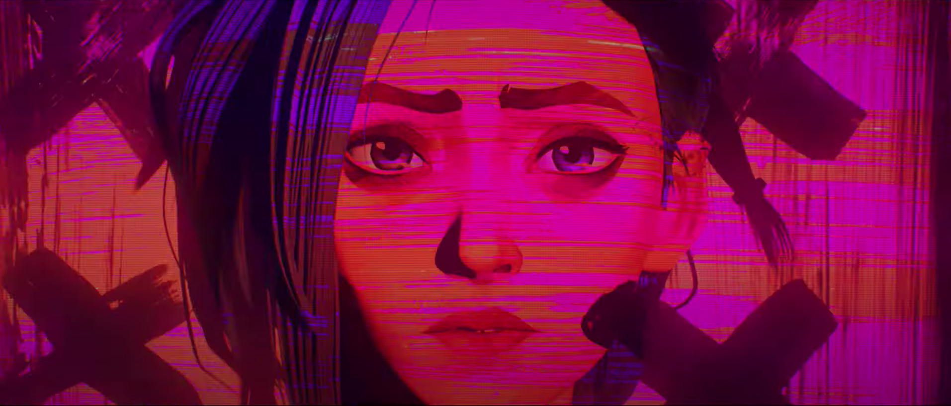 Jinx from the Imagine Dragons music video for the League of Legends' Netflix series Arcane
