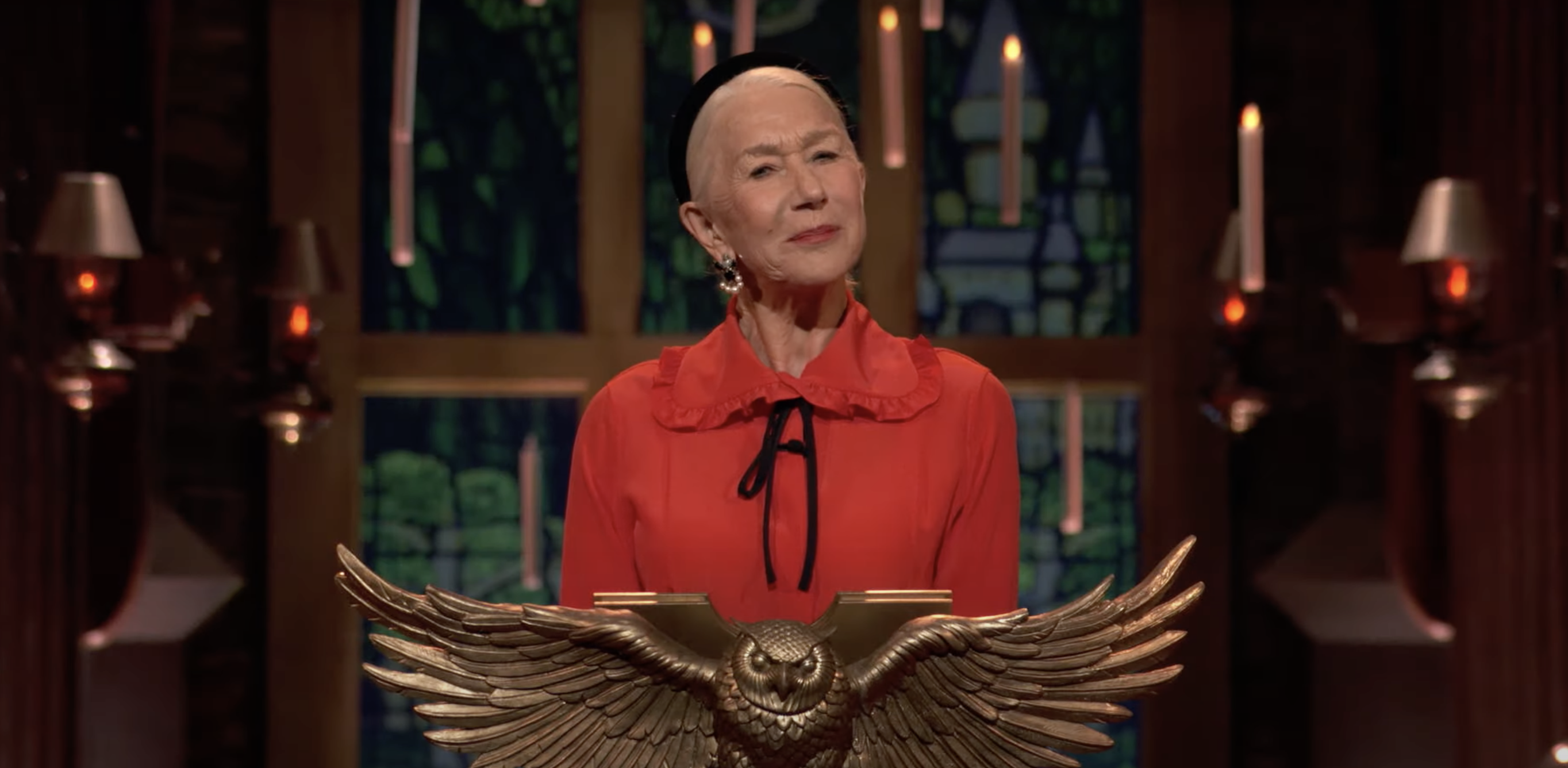 helen mirren hosting the harry potter game show for some reason
