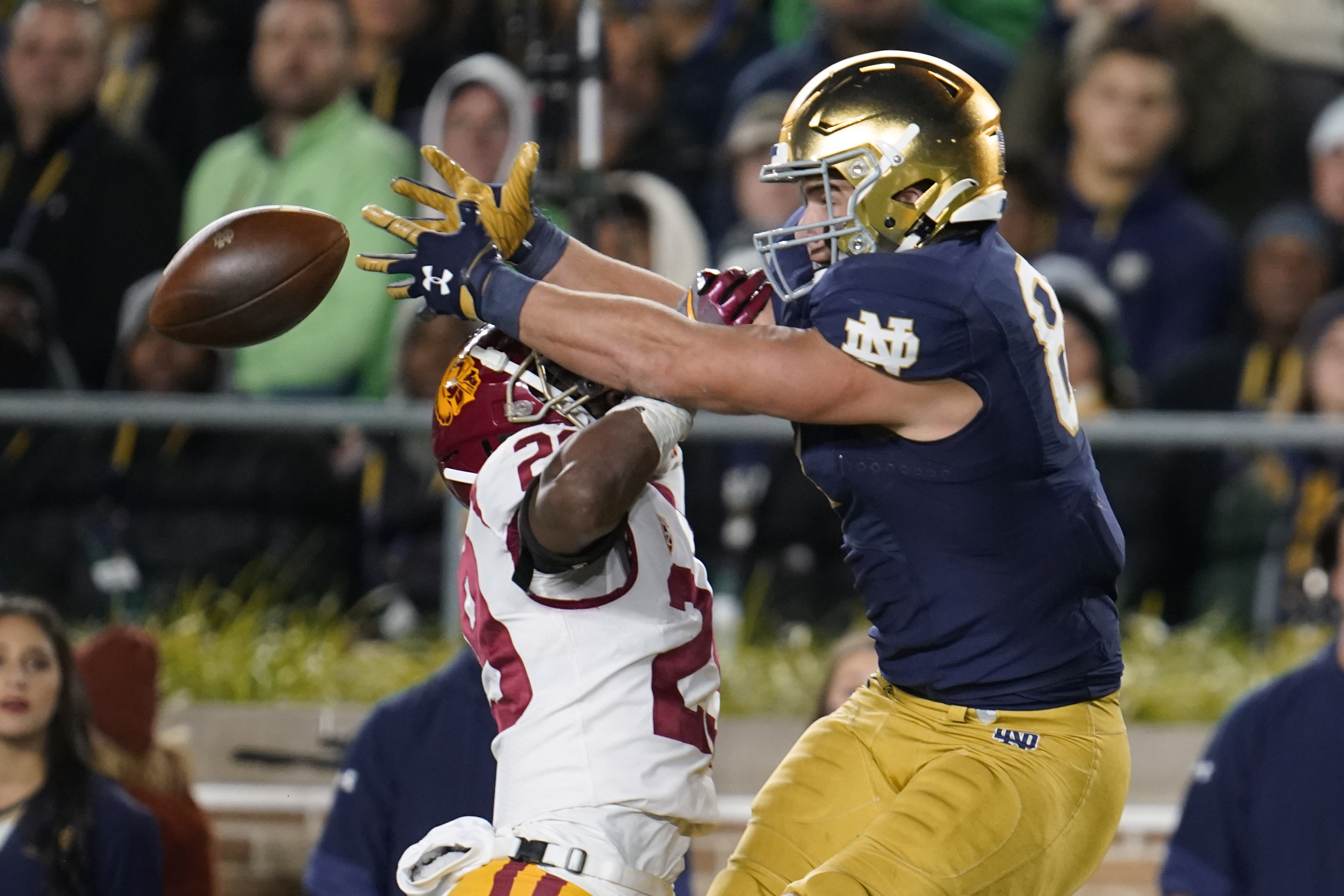 Tight end Michael Mayer is Notre Dame's leading receiver.