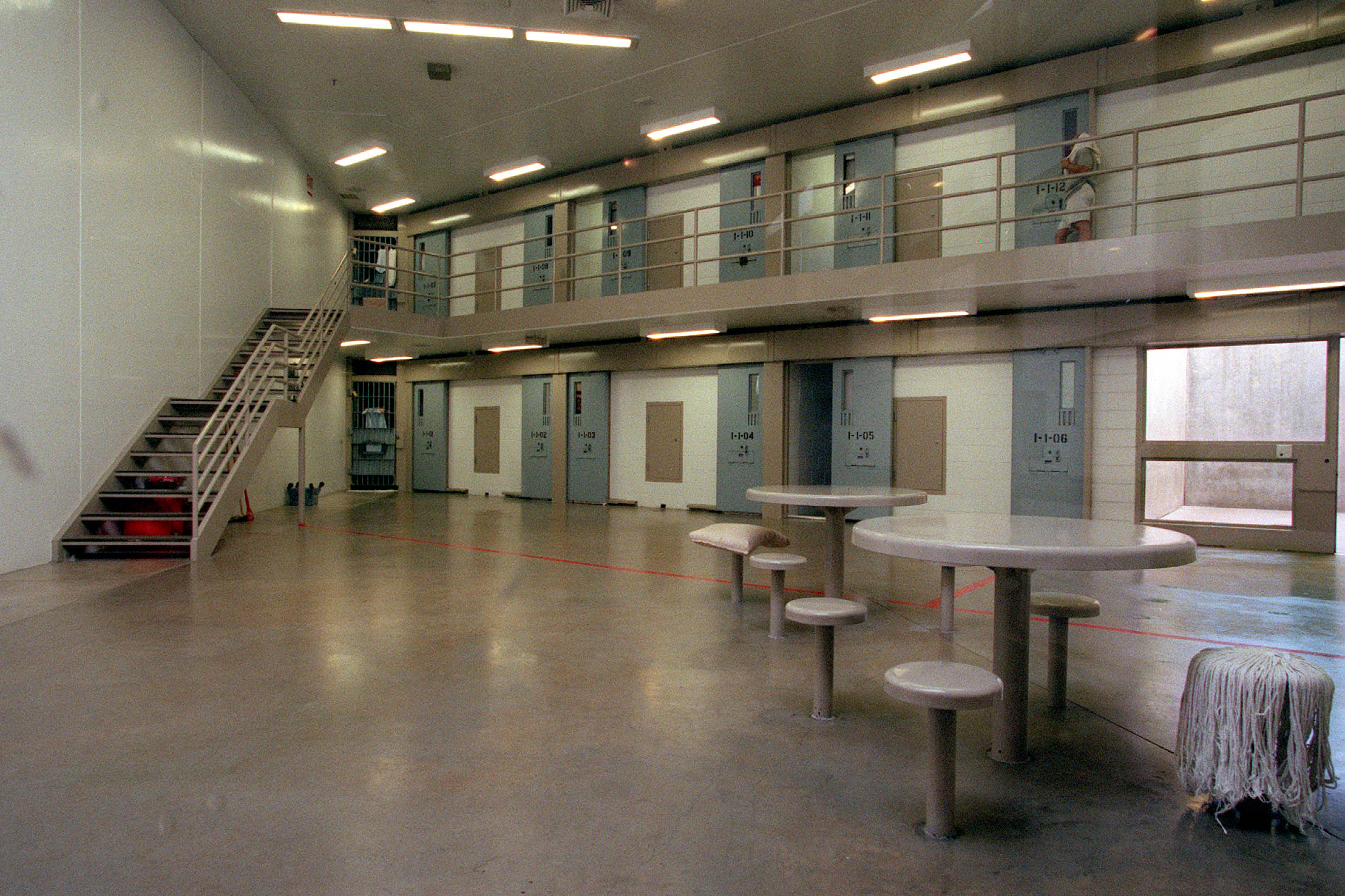 Death row at the Utah State Prison.