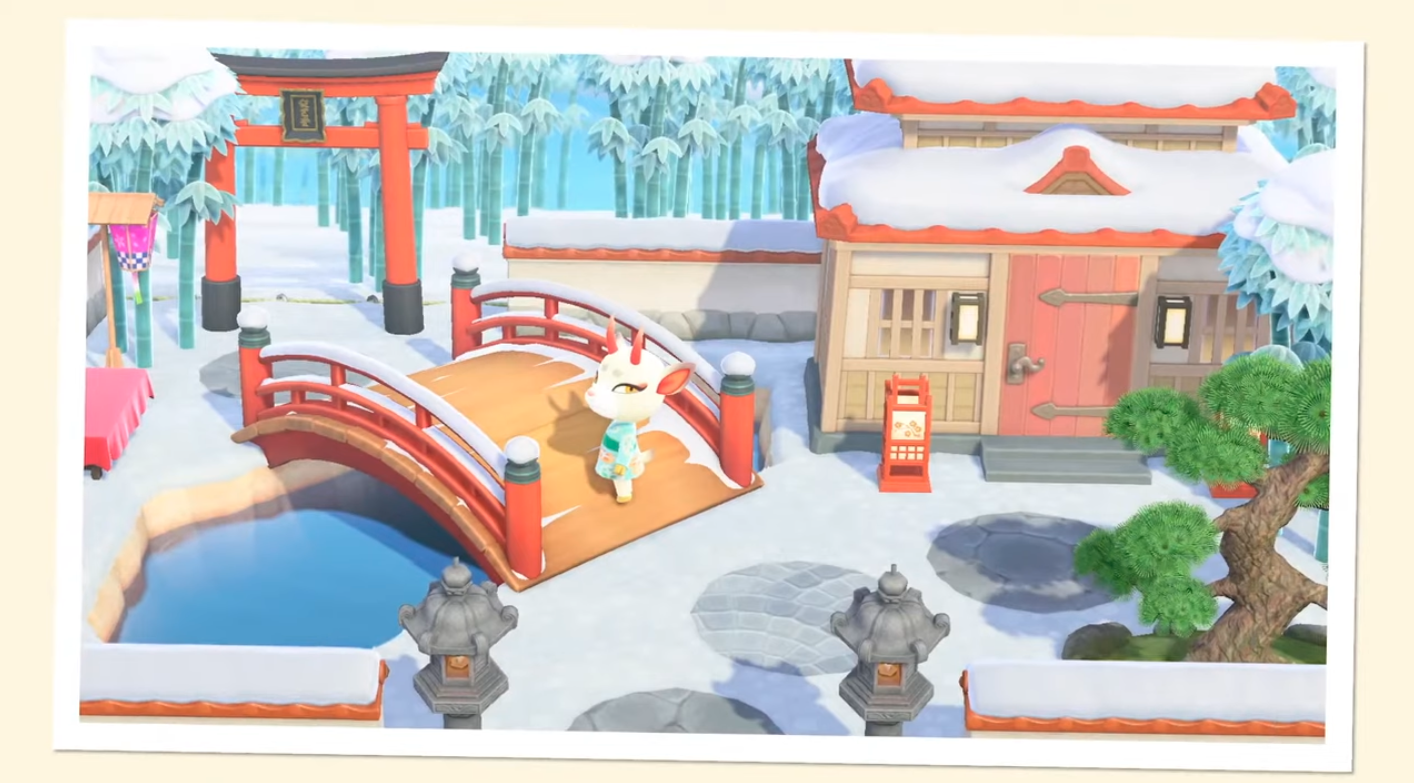 A screenshot of Shino from the Animal Crossing Happy Homes DLC portion of the Nintendo Direct on Oct. 15