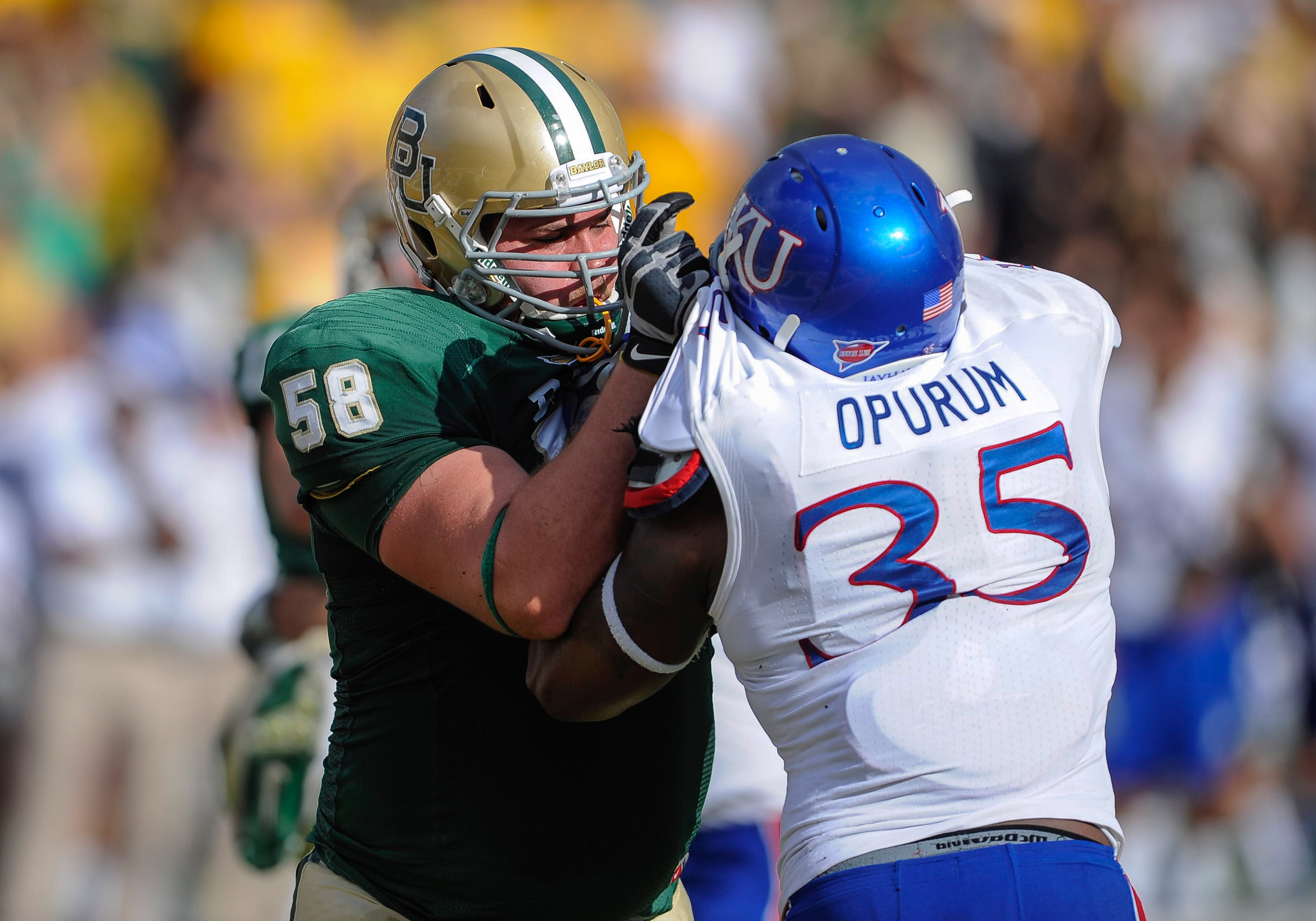 Spencer Drango was the jewel of Baylor's recruiting class two years ago and has now developed into an All-American caliber player.