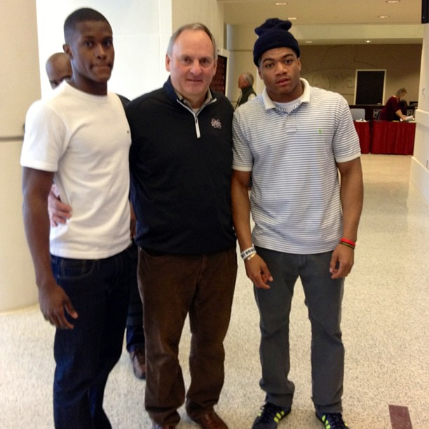 New MSU commit Tolando Cleveland with Donald Gray and Rocky Felker