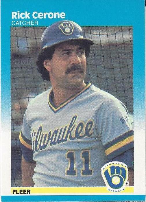 Cerone's 1987 Fleer card, #340